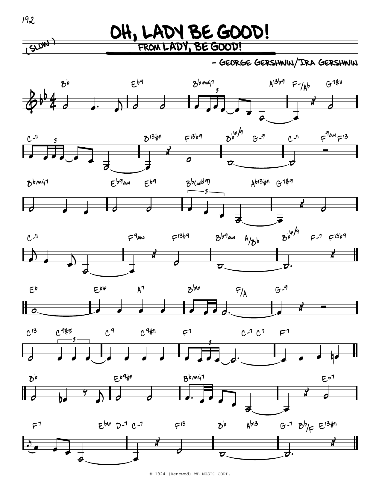 Oh, Lady Be Good! Sheet Music