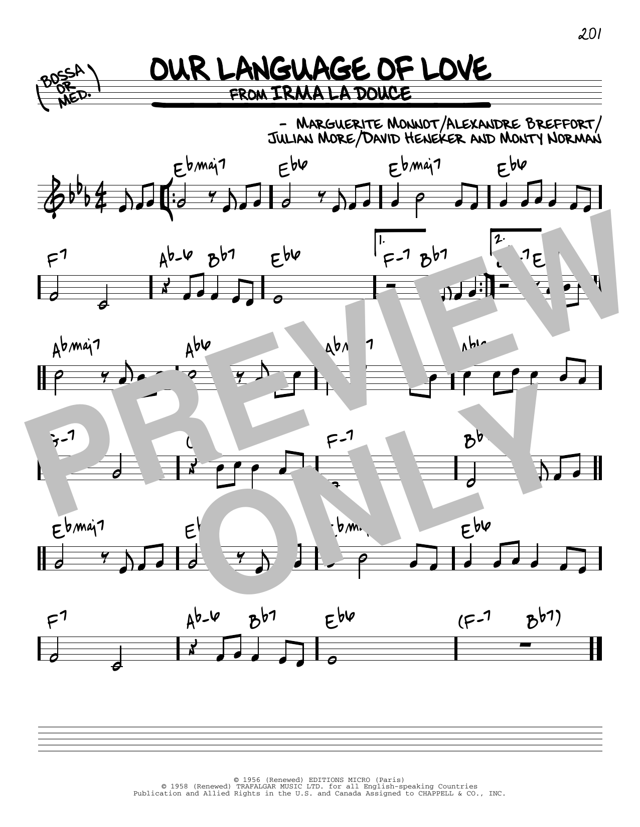 Our Language Of Love Sheet Music