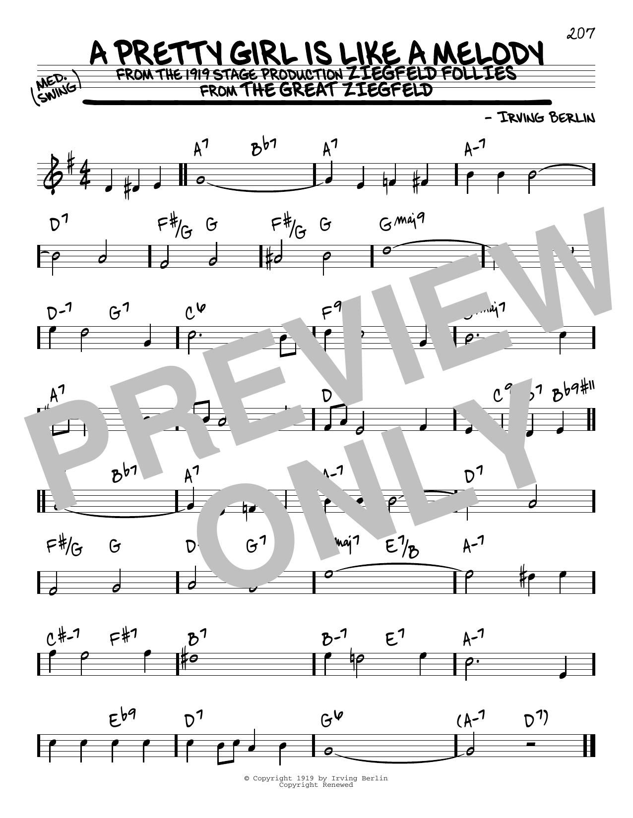 A Pretty Girl Is Like A Melody Sheet Music