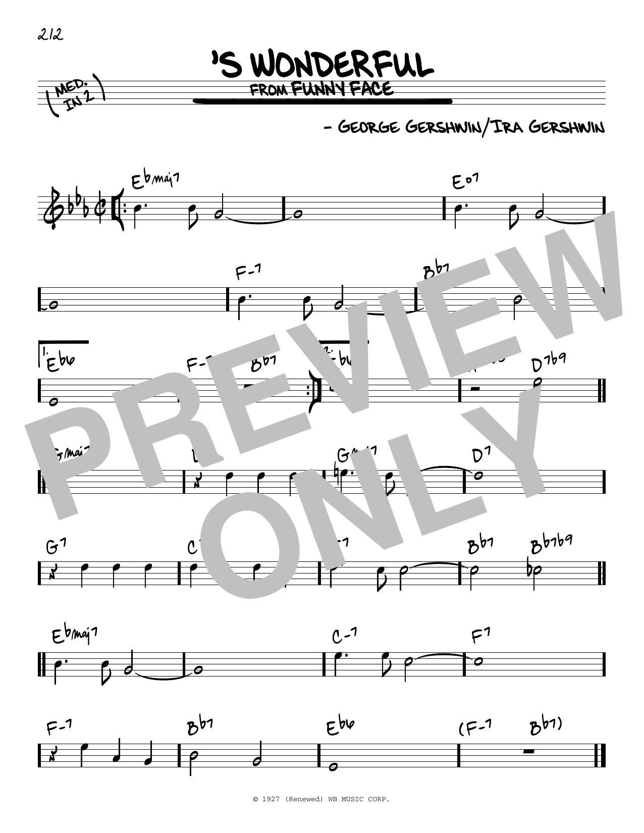 'S Wonderful Sheet Music