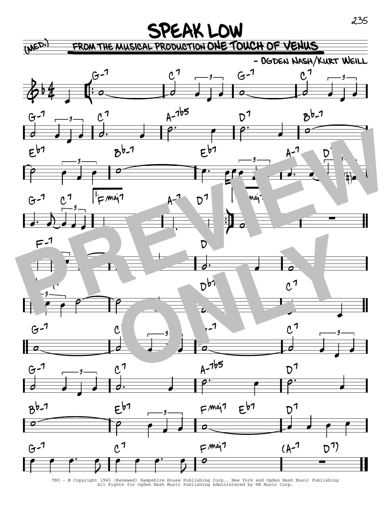 Speak Low (Real Book – Melody & Chords)