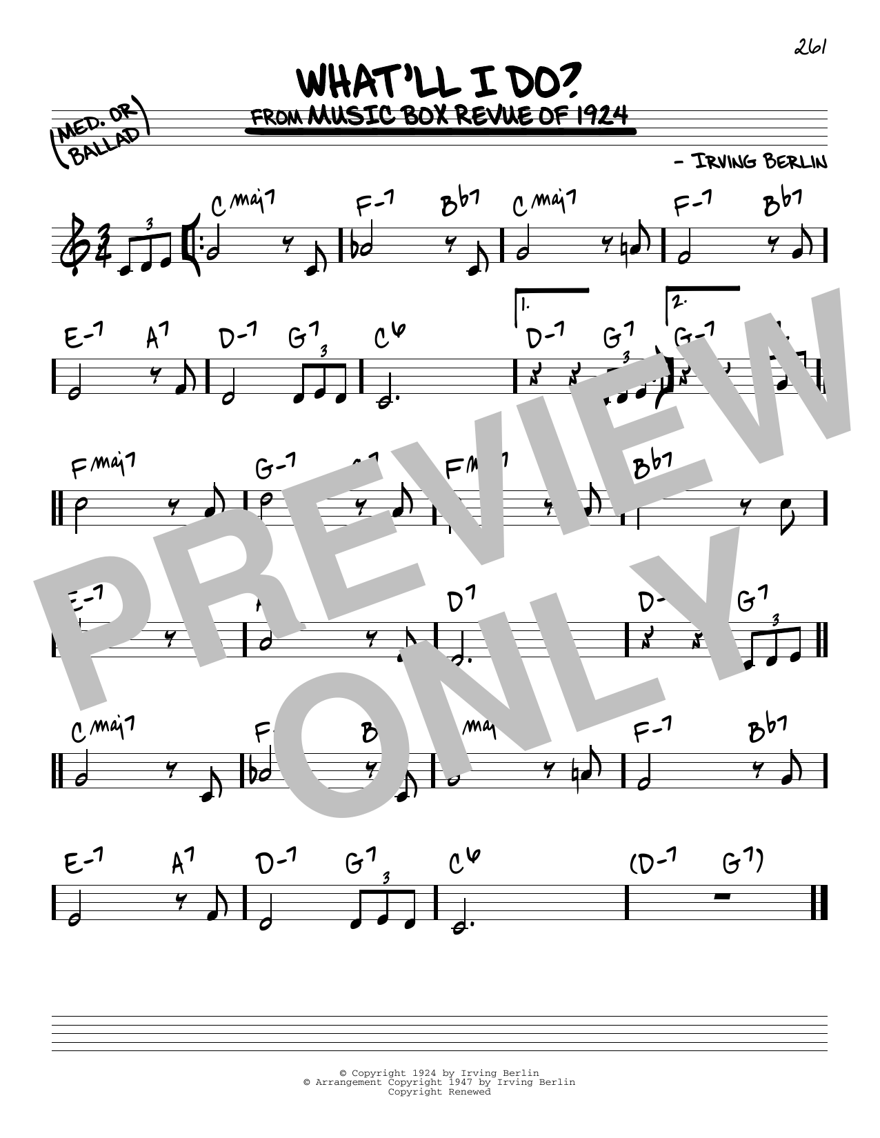 What'll I Do? Sheet Music