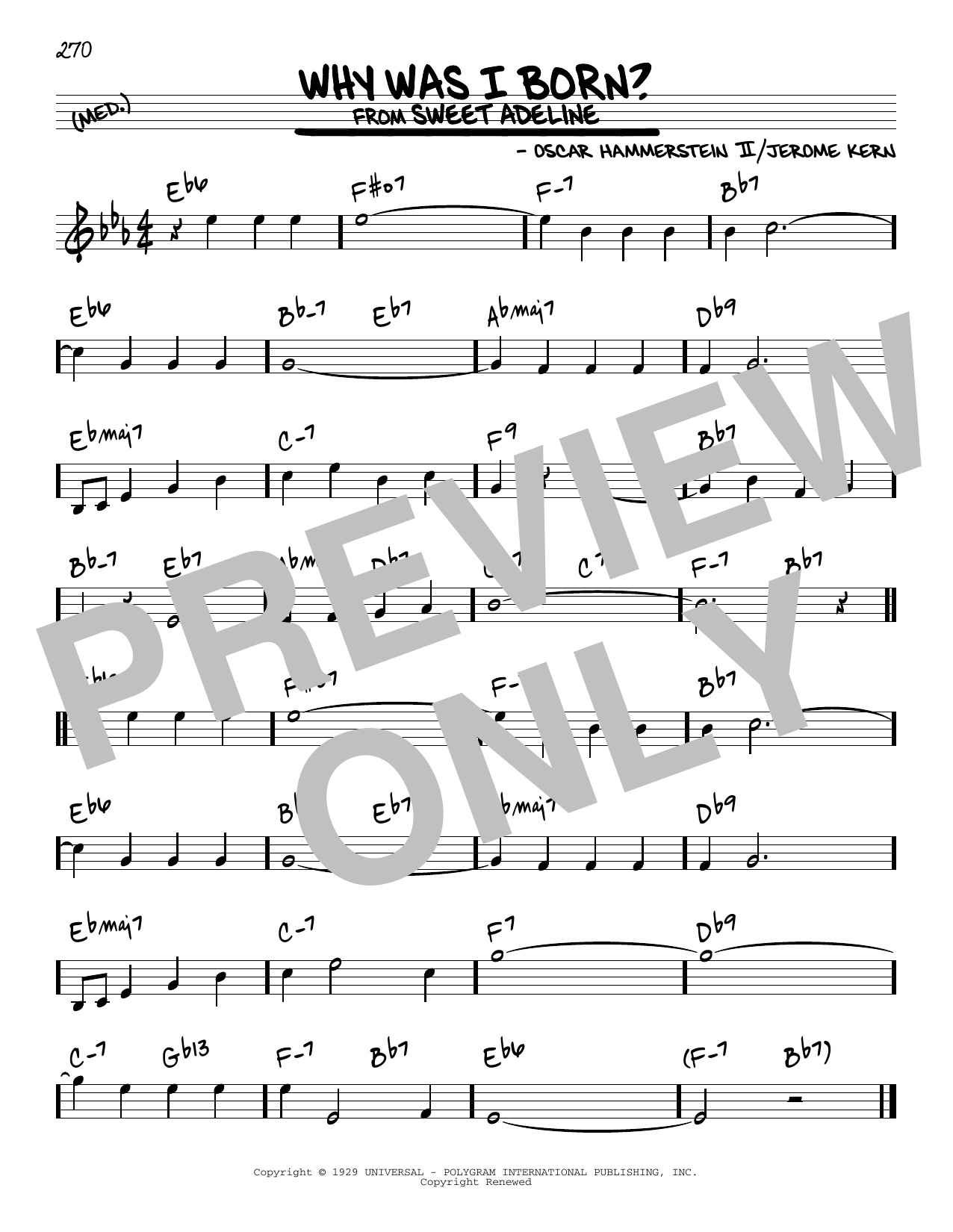 Why Was I Born? Sheet Music