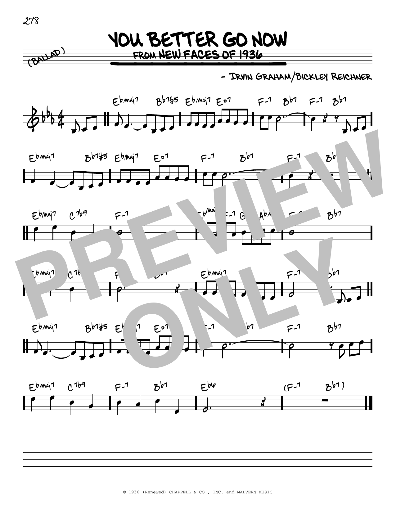 You Better Go Now Sheet Music
