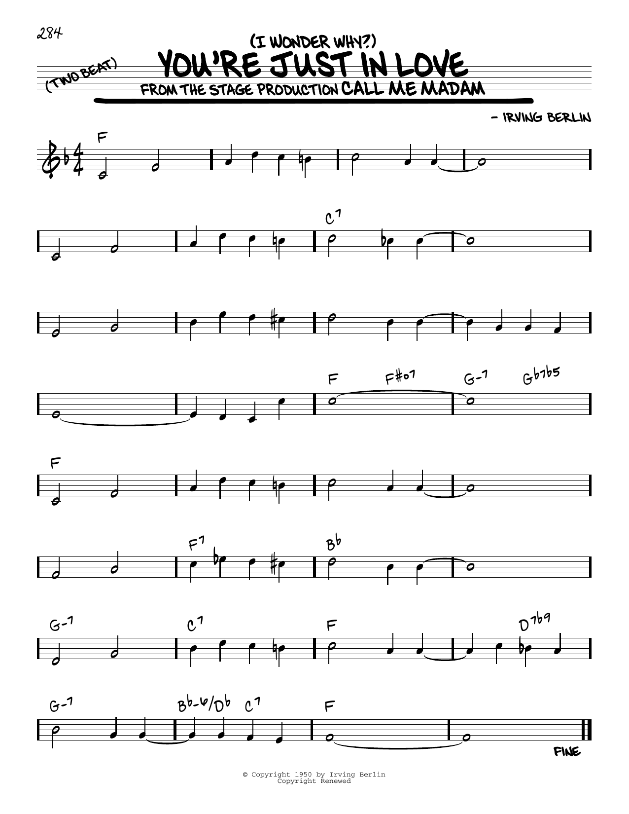 (I Wonder Why?) You're Just In Love Sheet Music