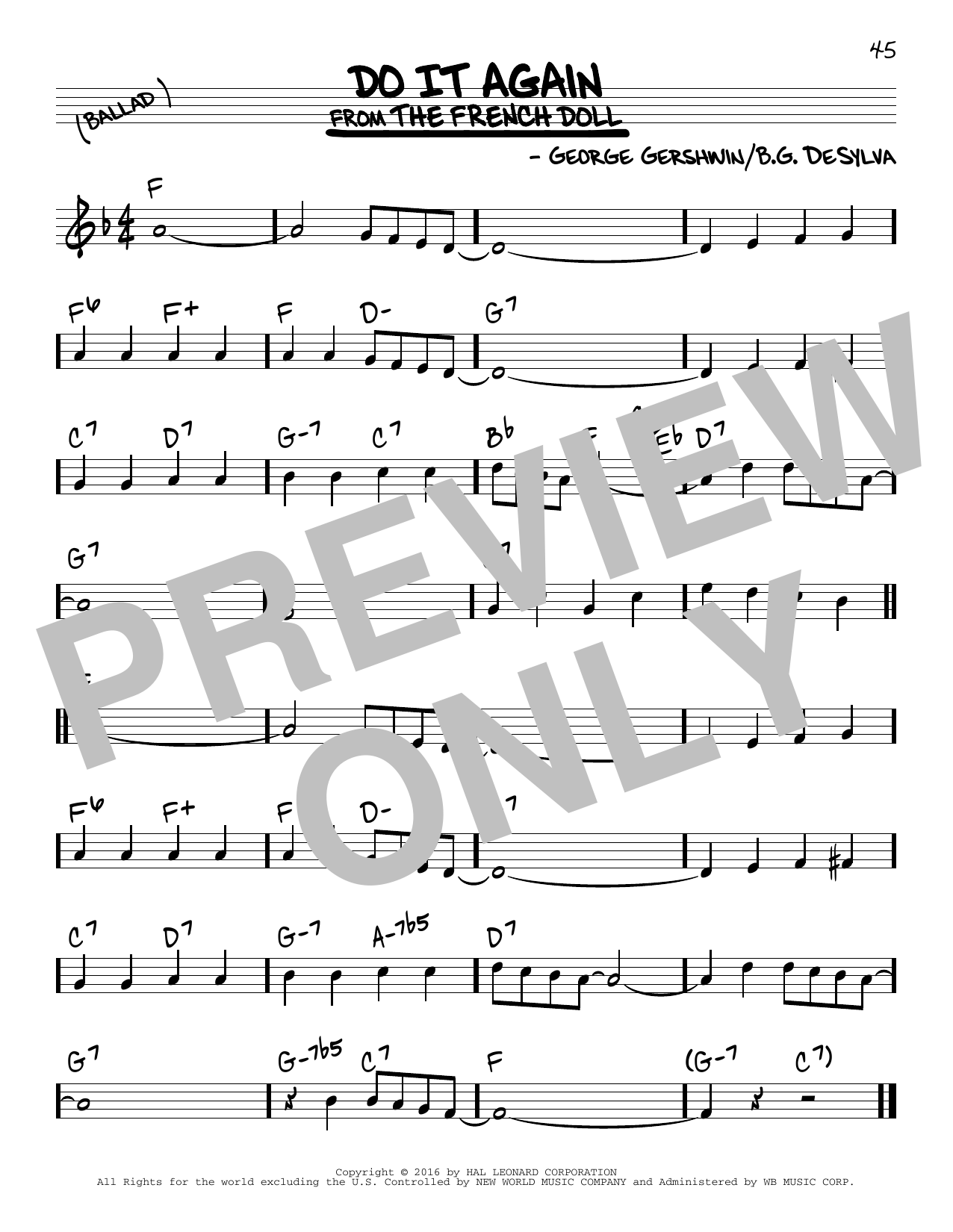 Do It Again (Real Book – Melody & Chords)