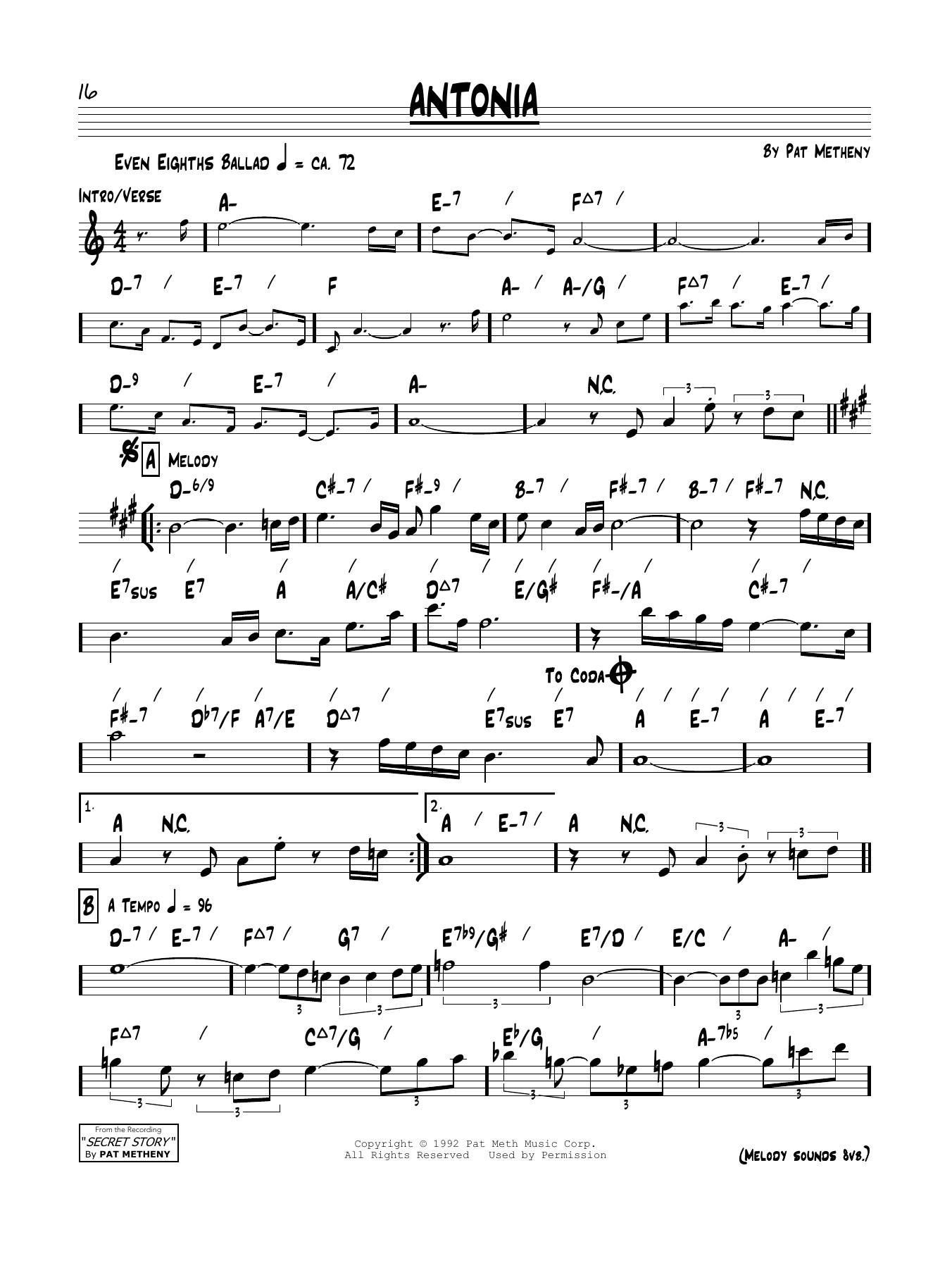 Antonia Sheet Music