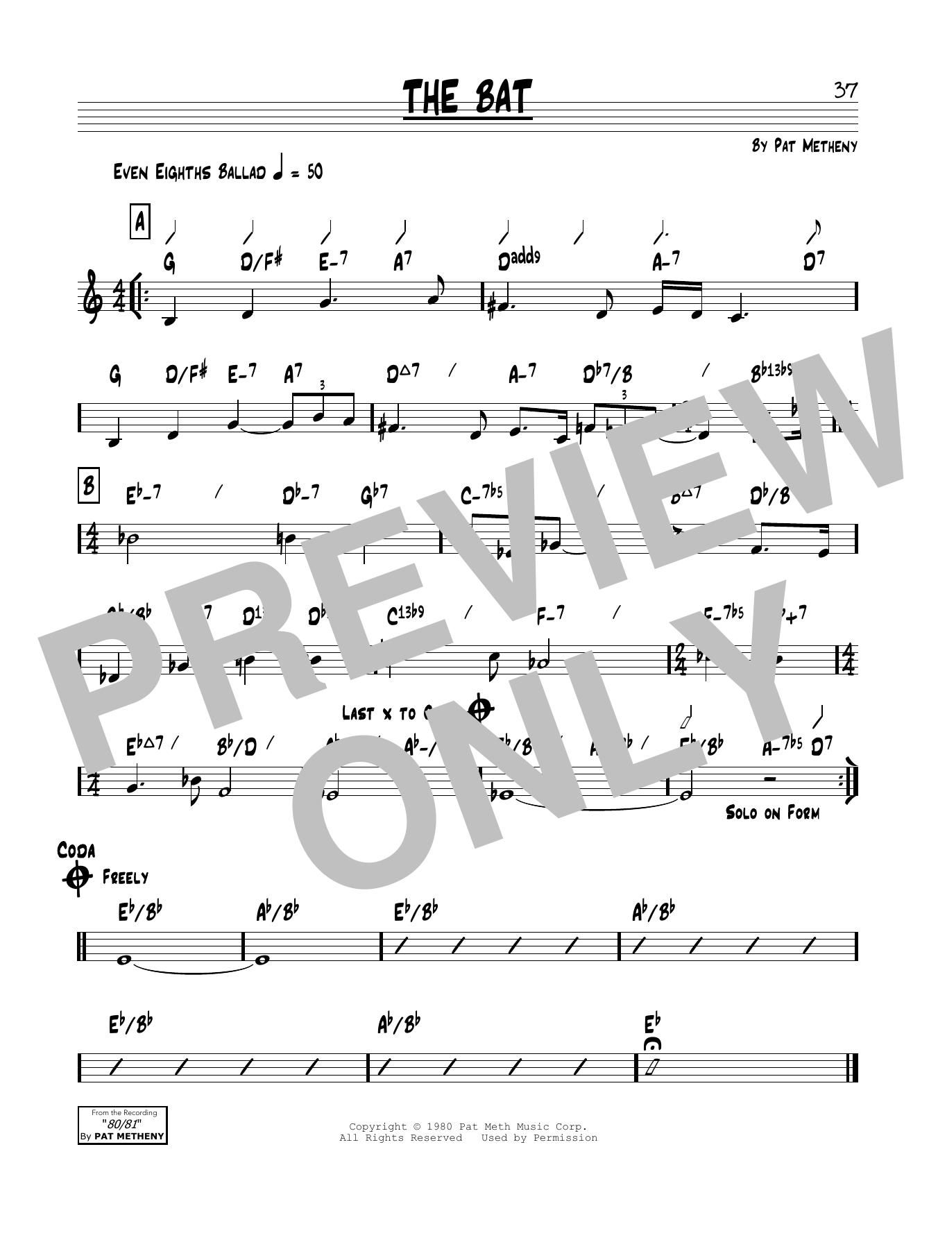 The Bat Sheet Music