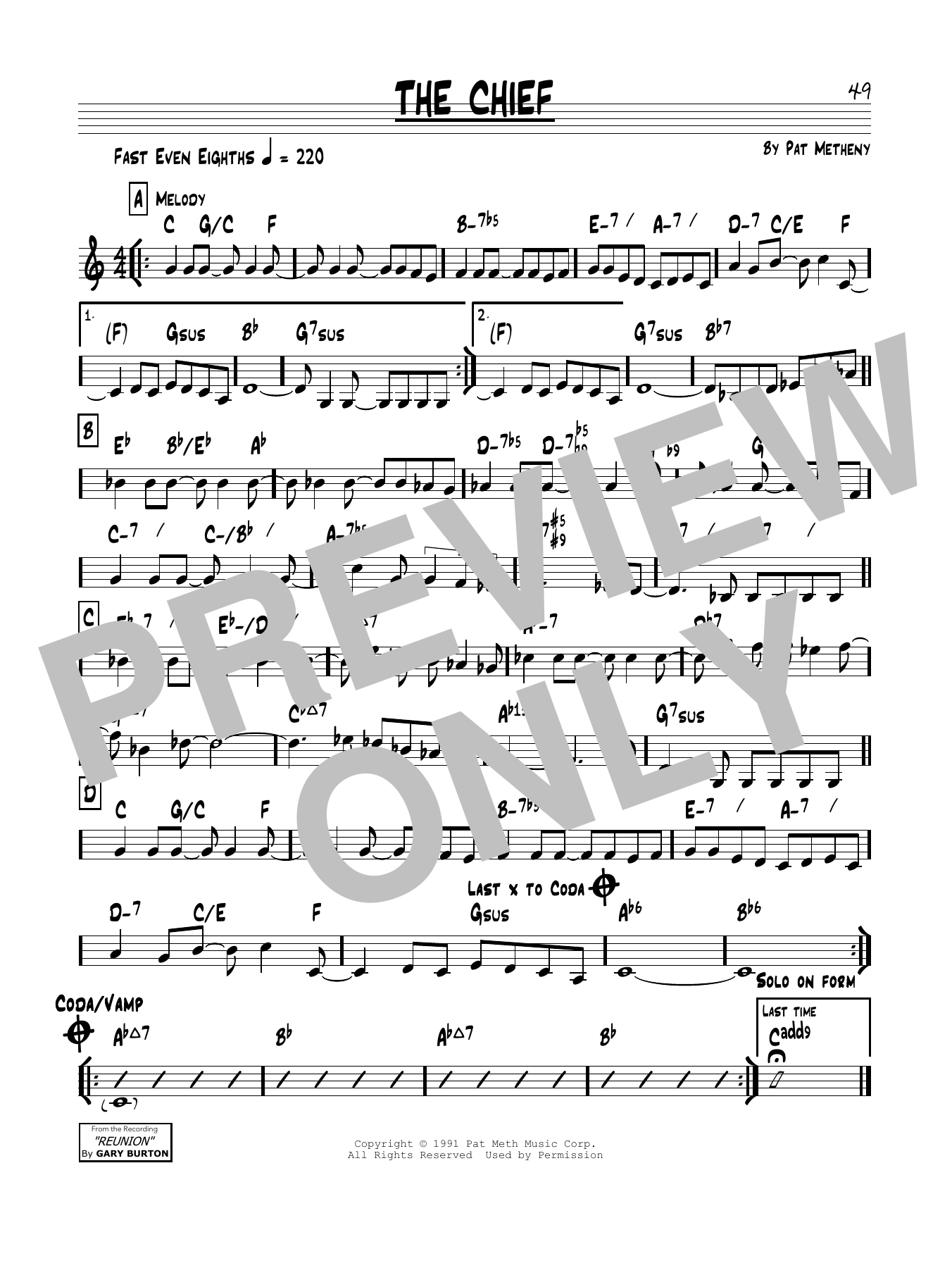 The Chief Sheet Music
