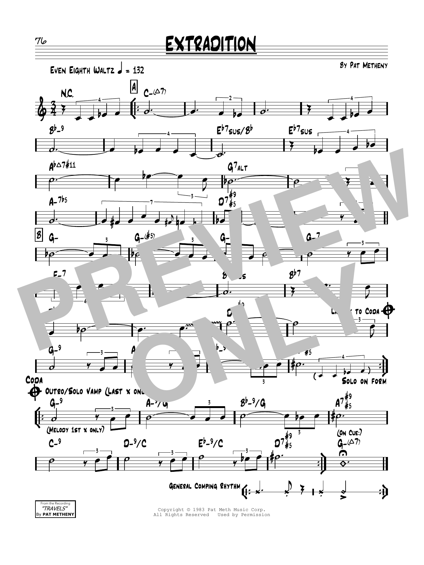 Extradition Sheet Music