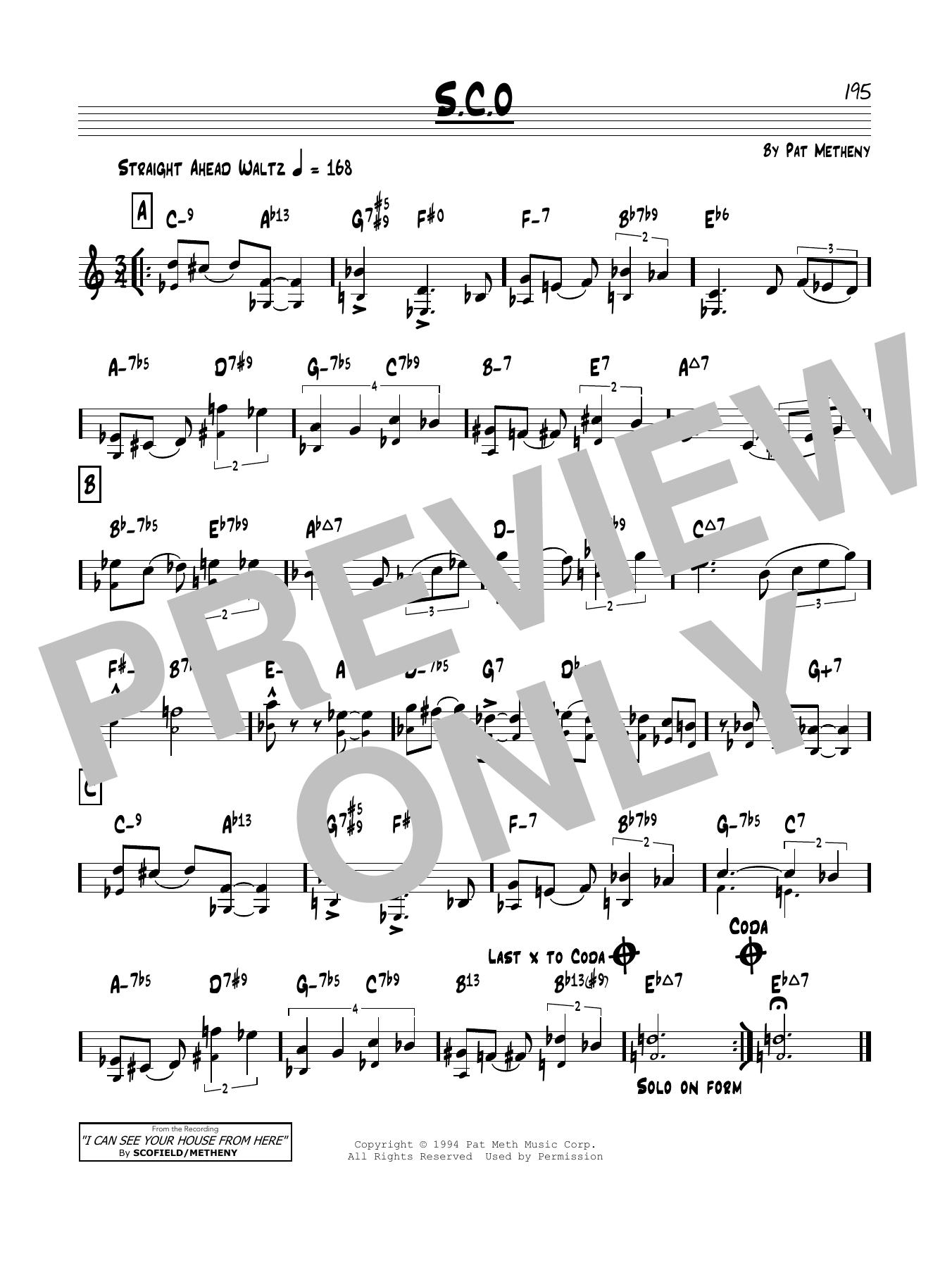 S.C.O. Sheet Music