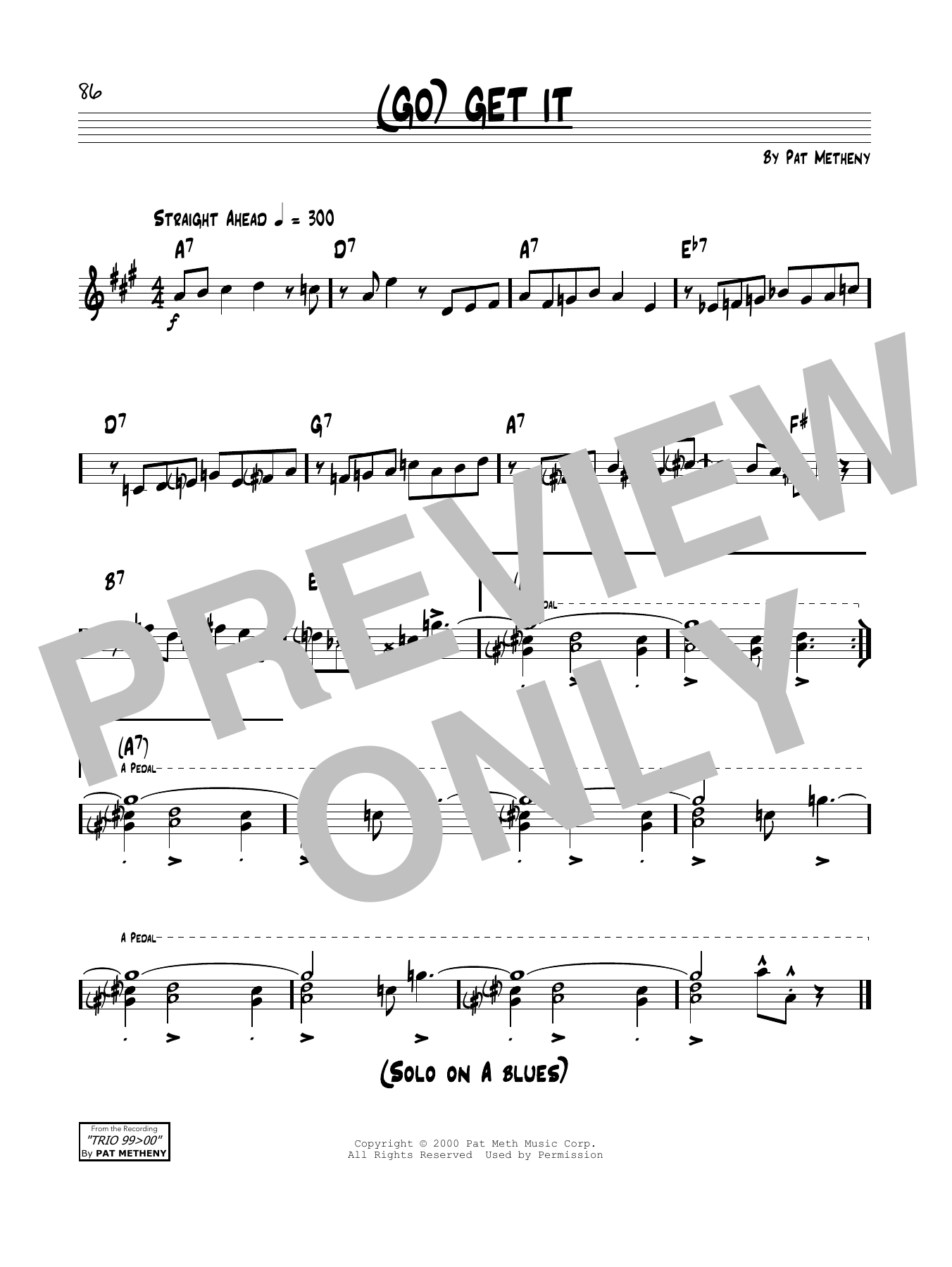 (Go) Get It Sheet Music