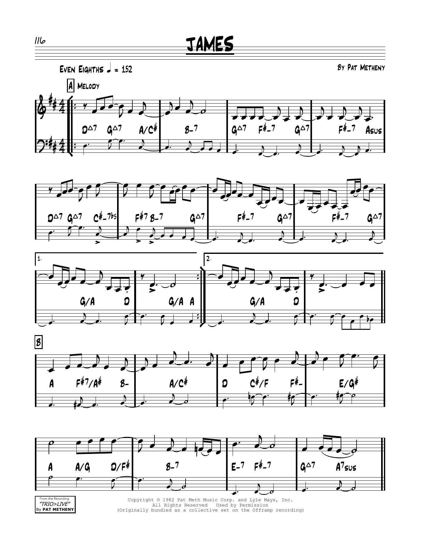 James Sheet Music