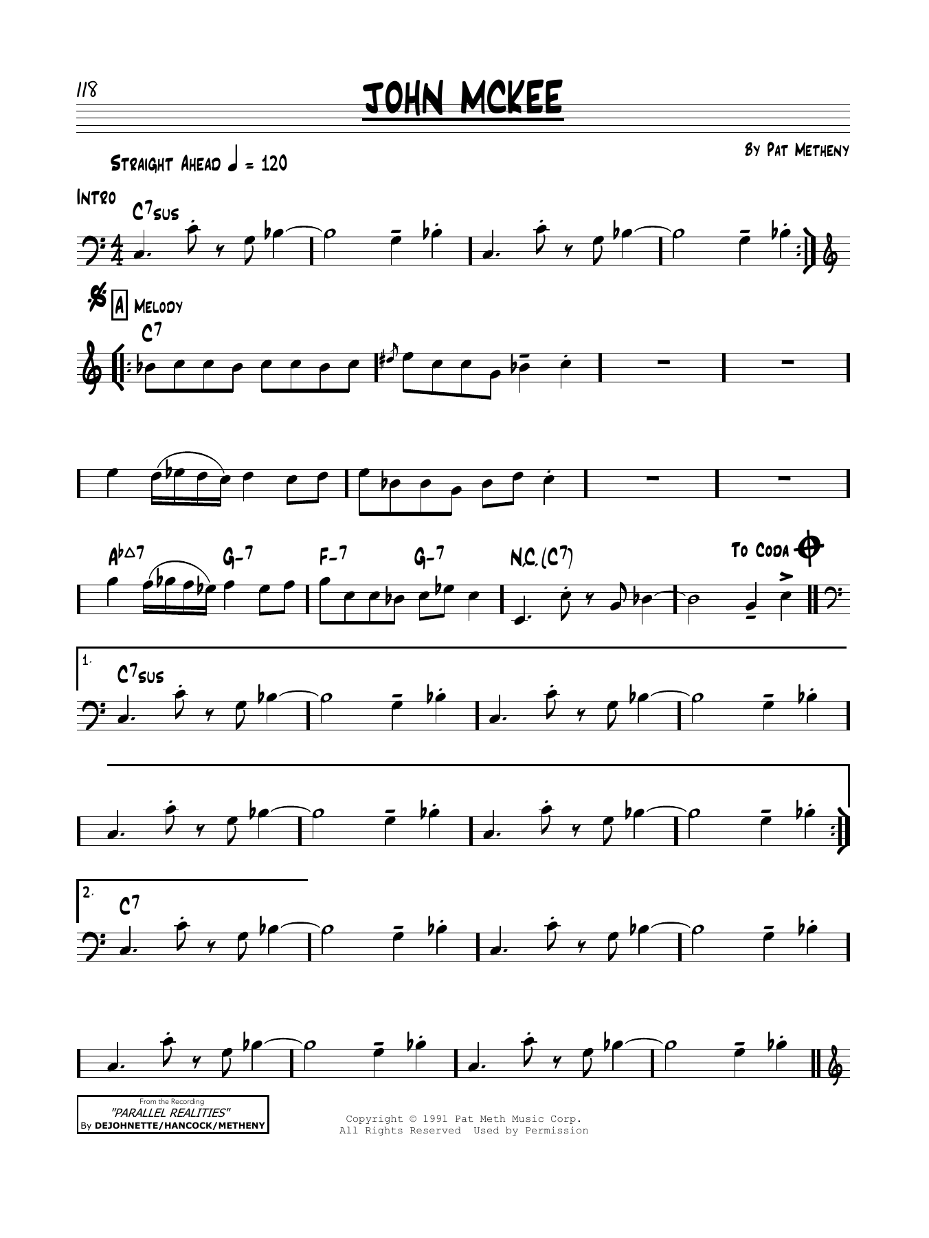 John McKee Sheet Music