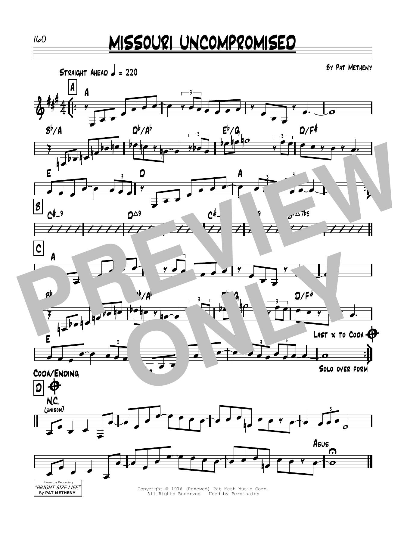 Missouri Uncompromised Sheet Music