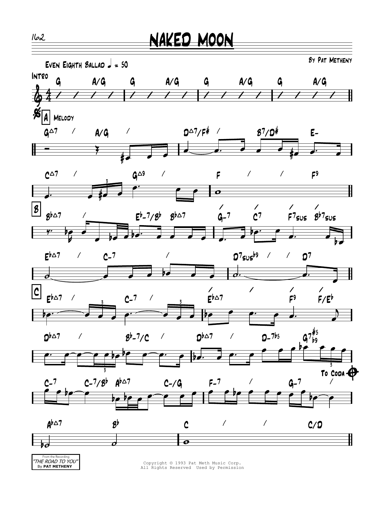 Naked Moon Sheet Music