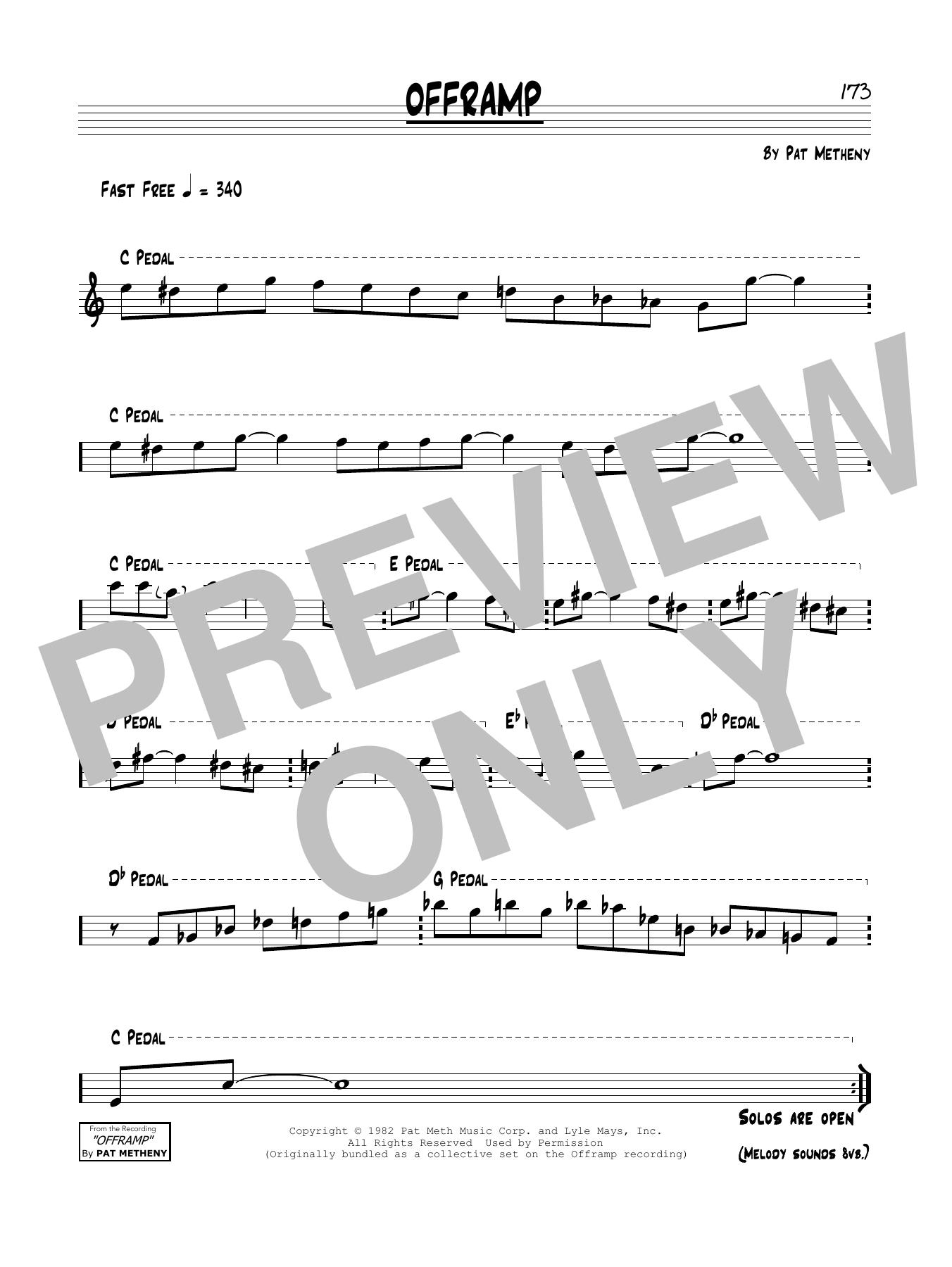 Offramp Sheet Music