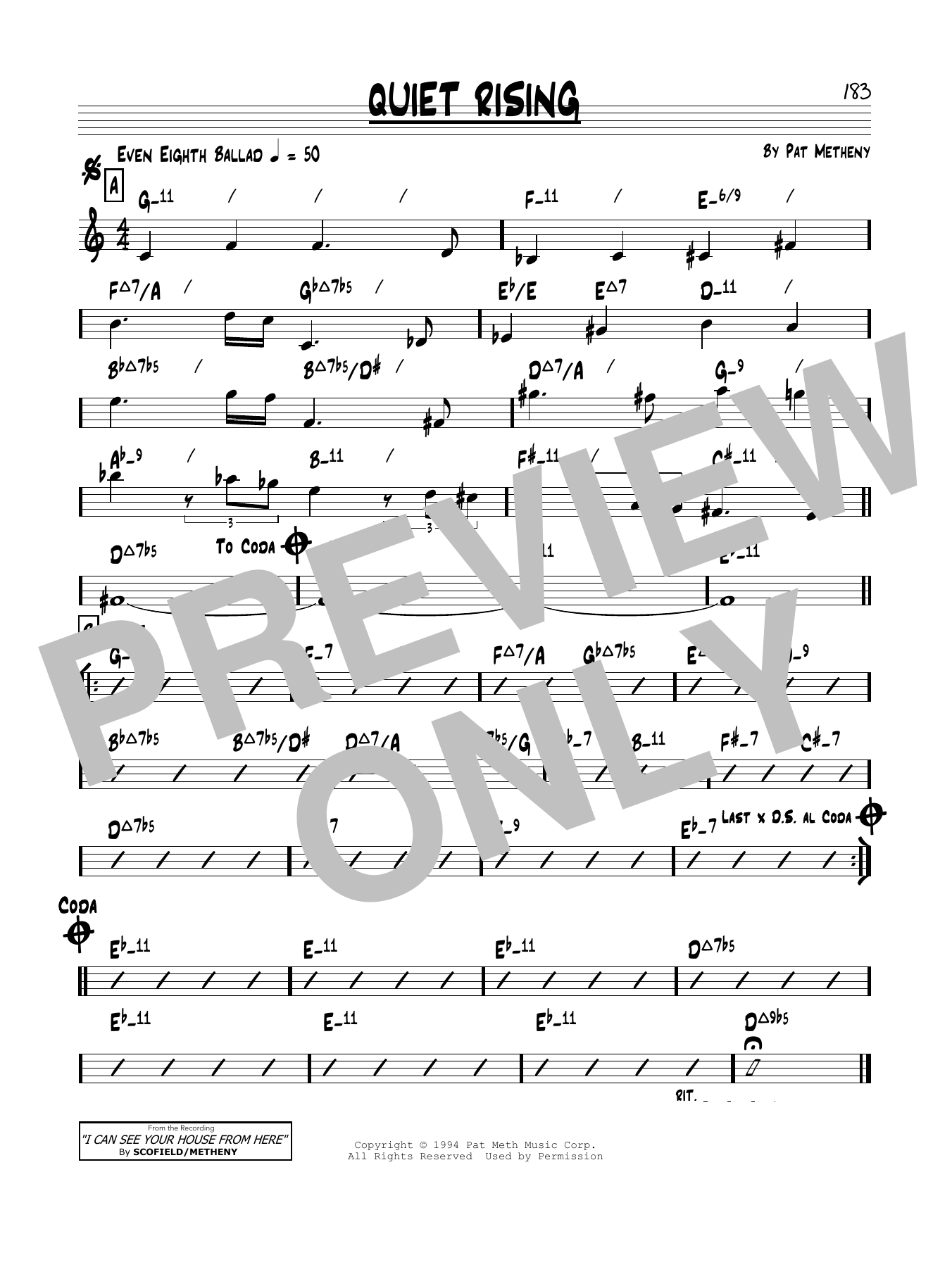 Quiet Rising (Real Book – Melody & Chords)