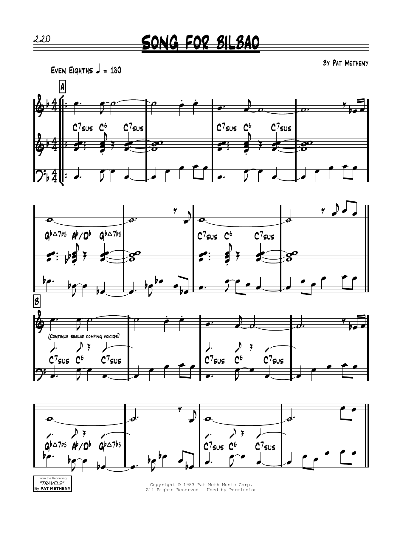 Song For Bilbao Sheet Music