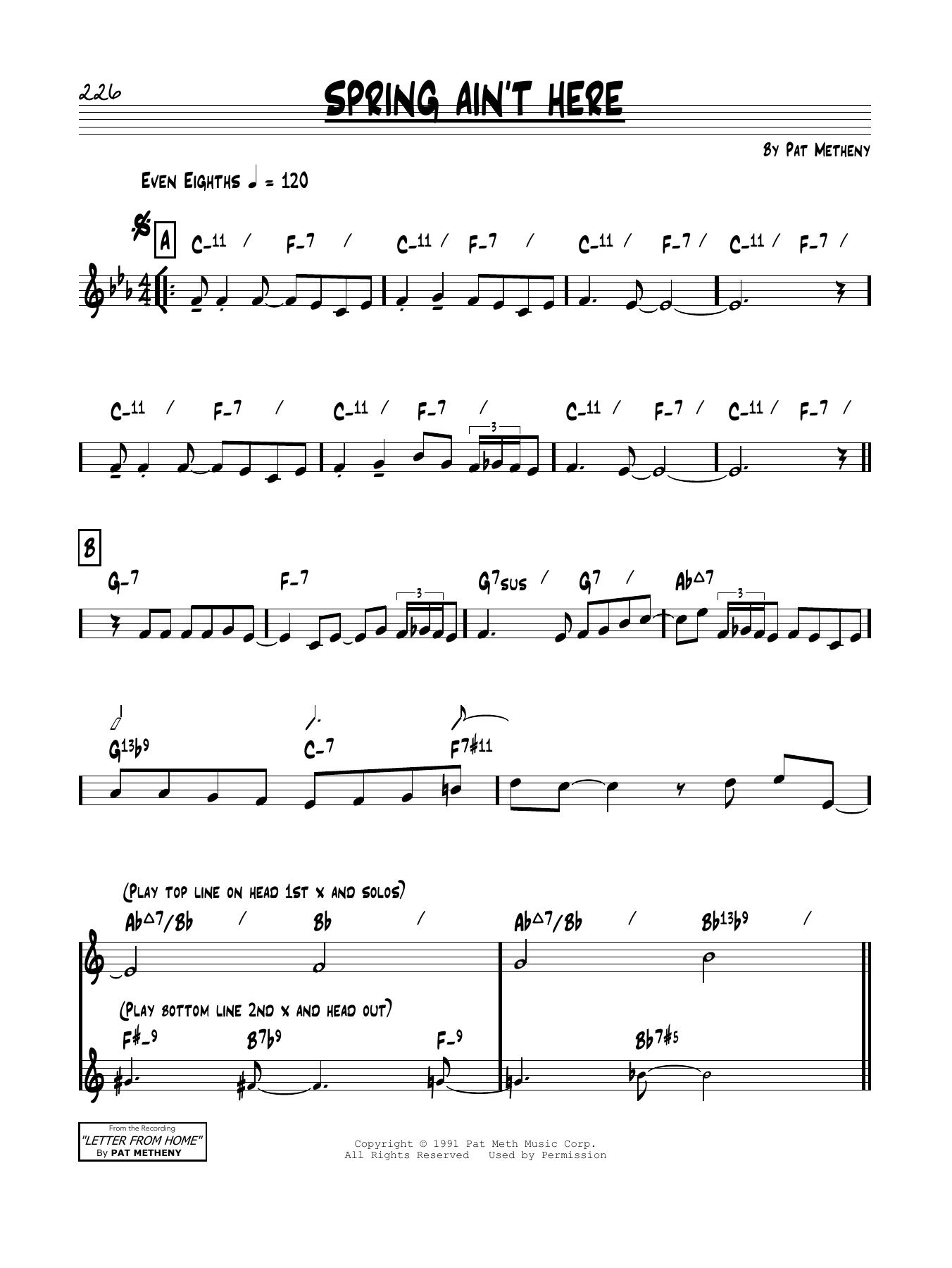Spring Ain't Here Sheet Music