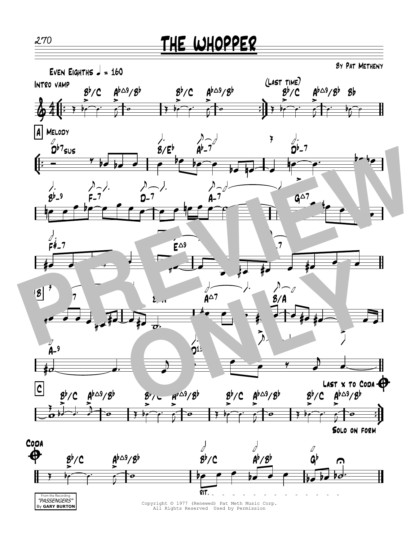 The Whopper Sheet Music