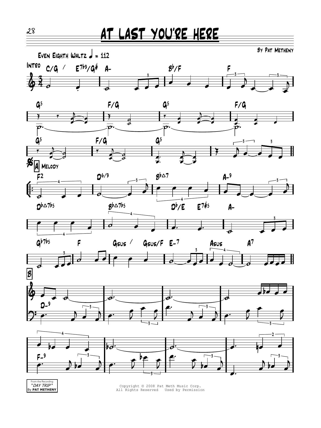 At Last You're Here Sheet Music