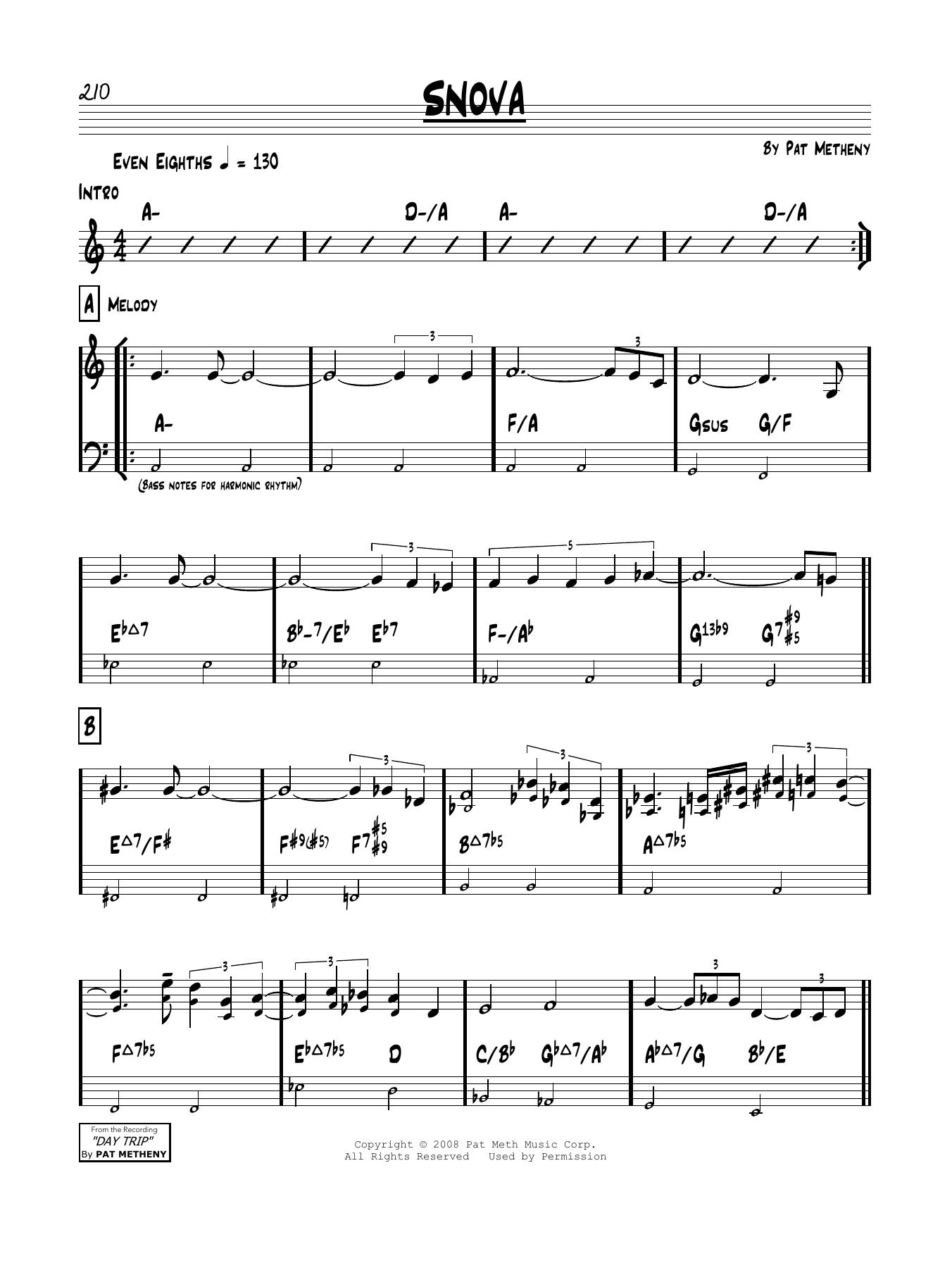 Snova Sheet Music
