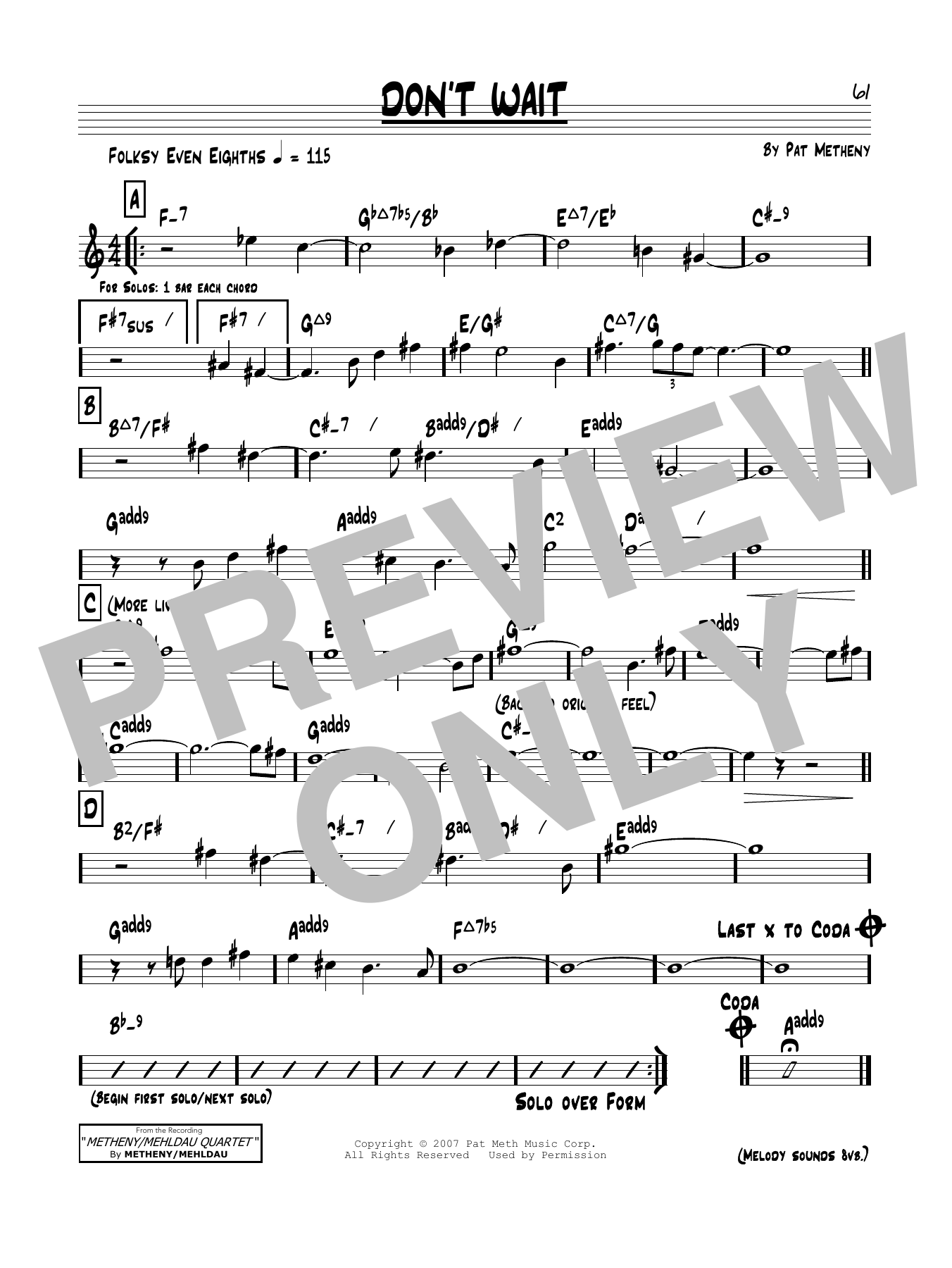 Don't Wait Sheet Music