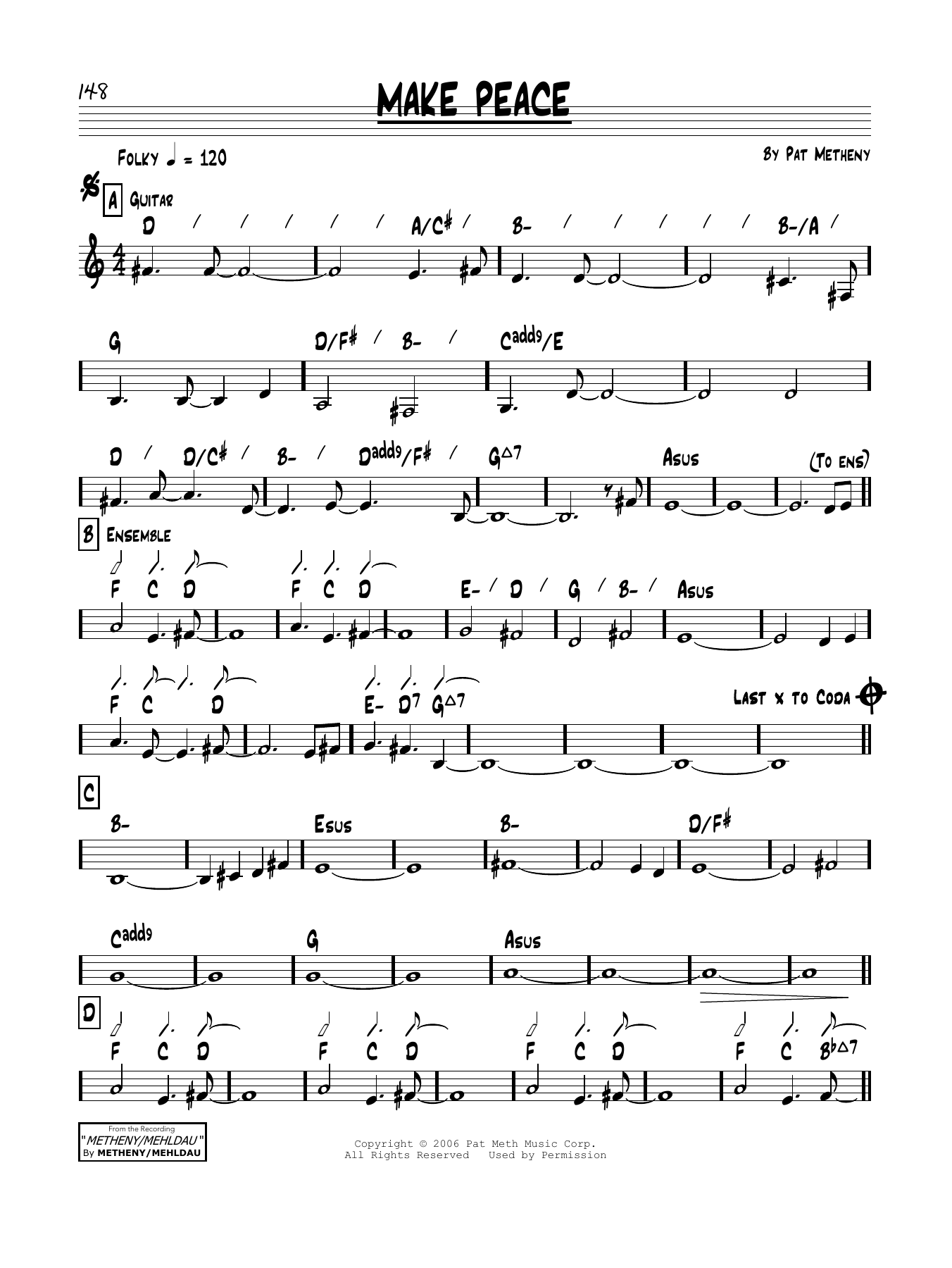 Make Peace Sheet Music