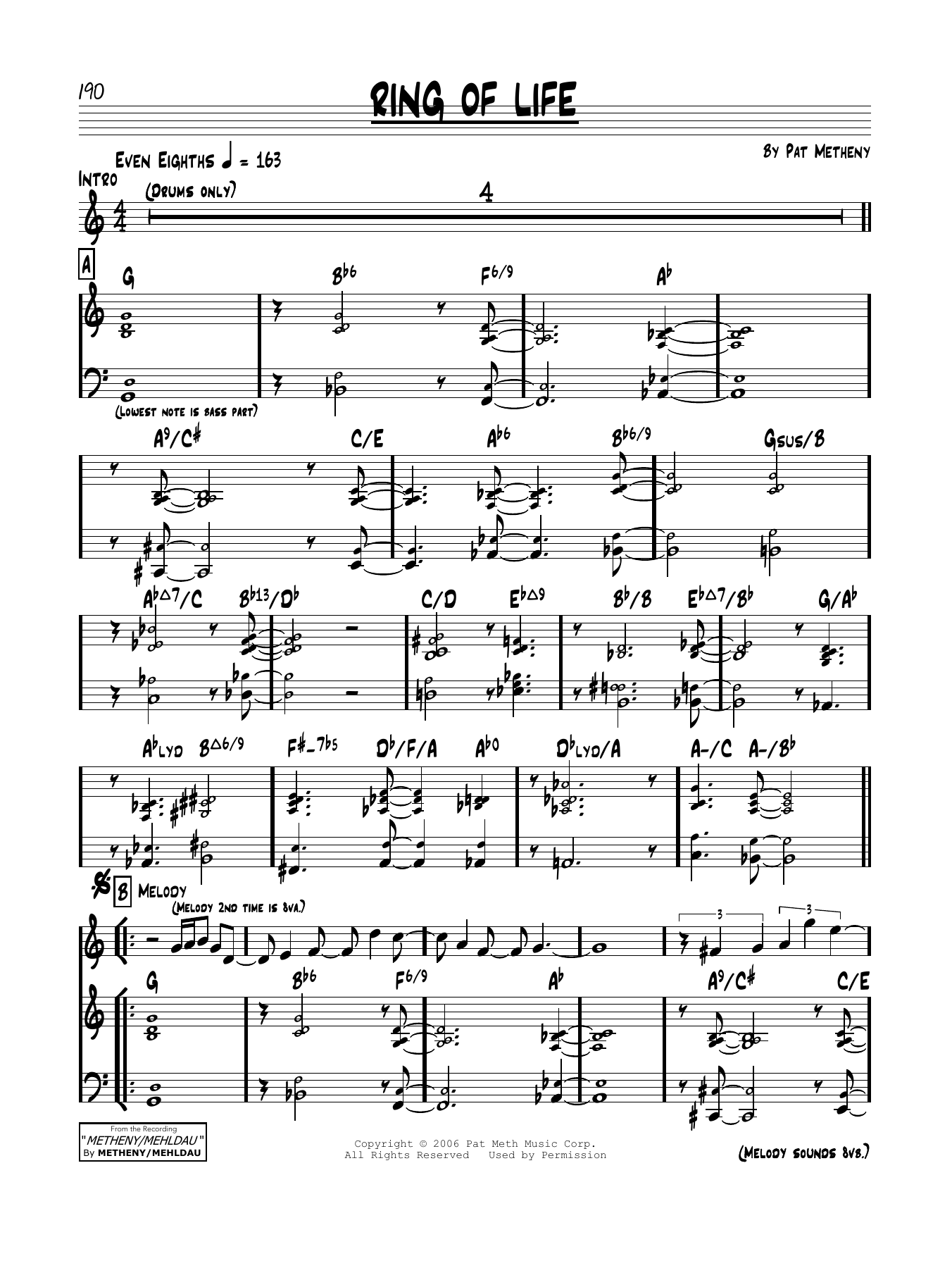 Ring Of Life Sheet Music