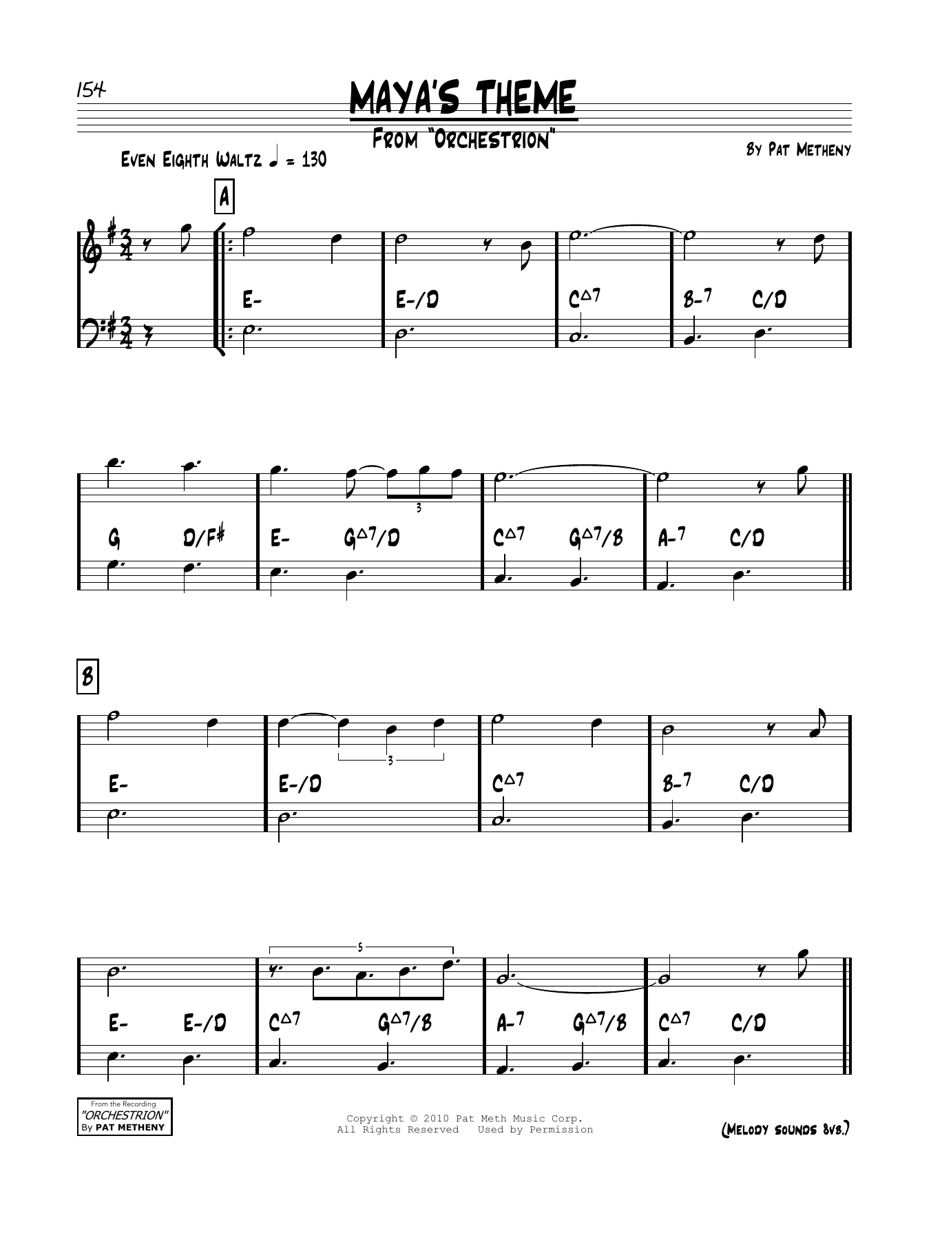 Maya's Theme Sheet Music