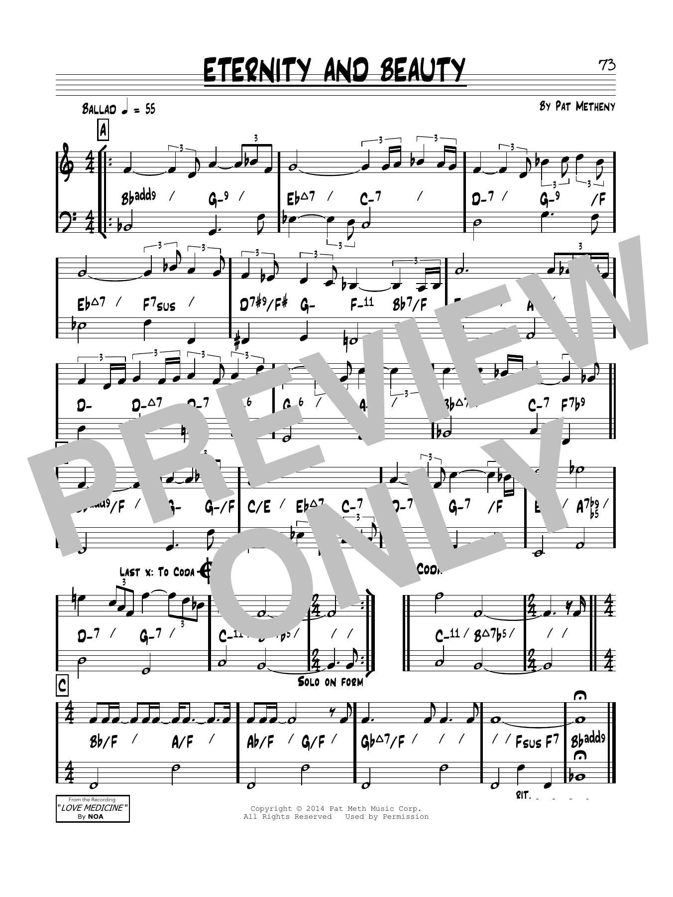 Eternity & Beauty Sheet Music