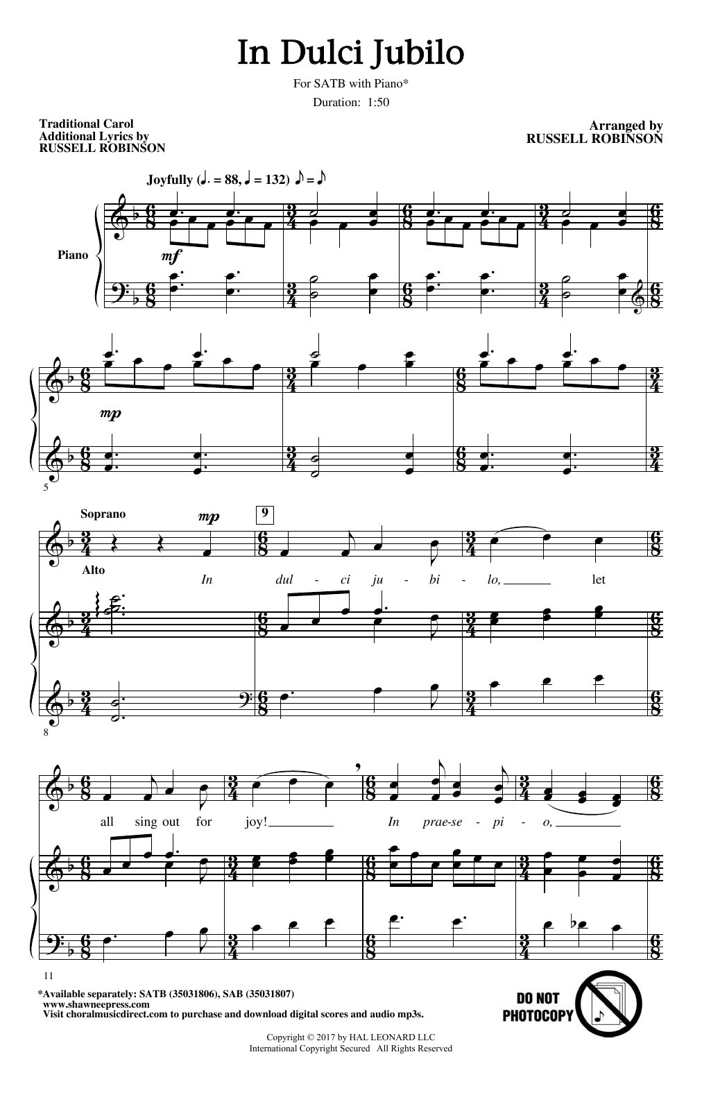 In Dulci Jubilo (SATB Choir)