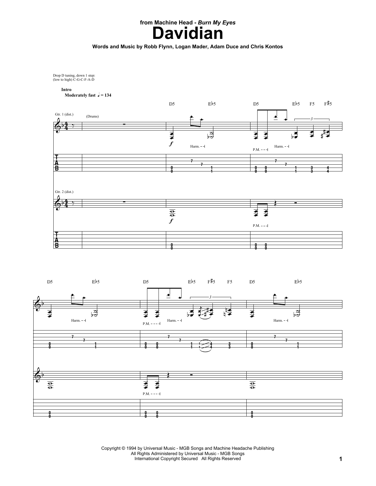 Davidian Sheet Music