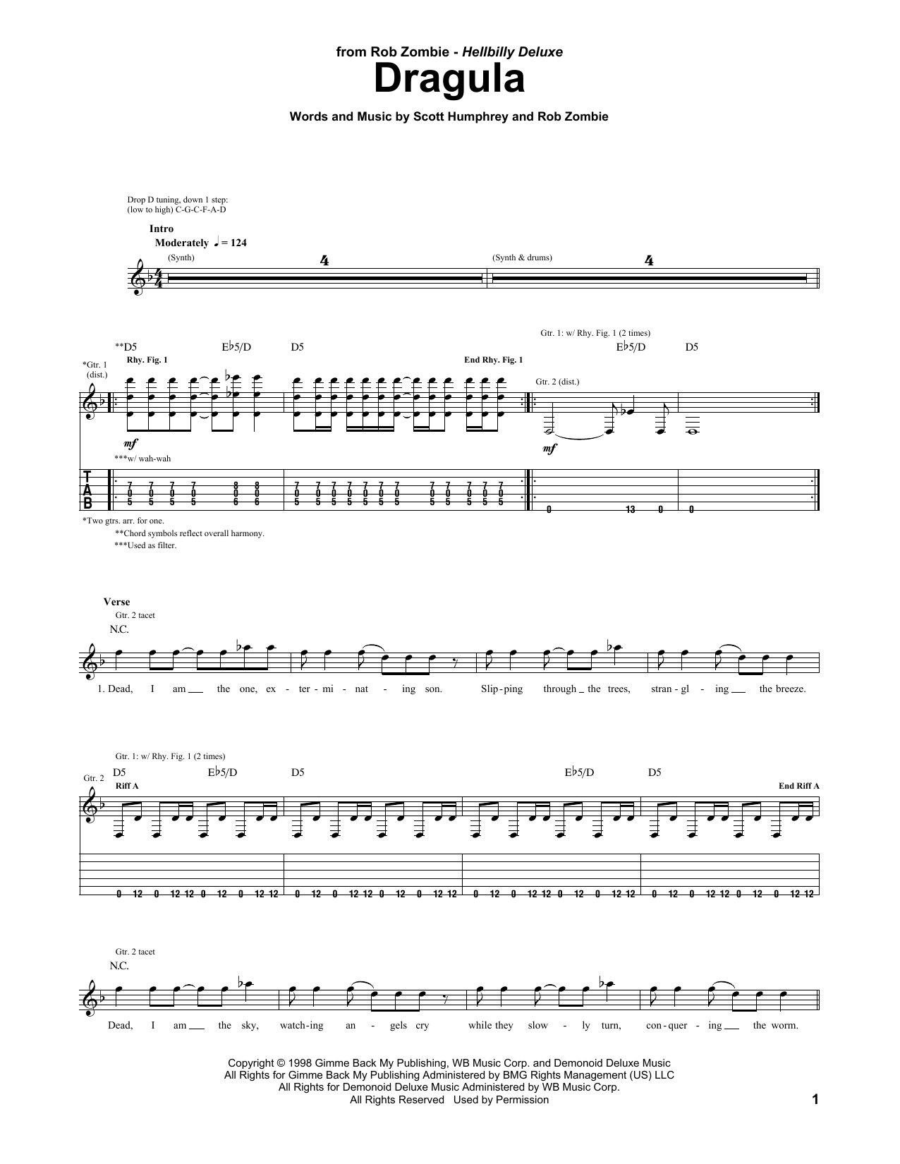 Dragula Sheet Music