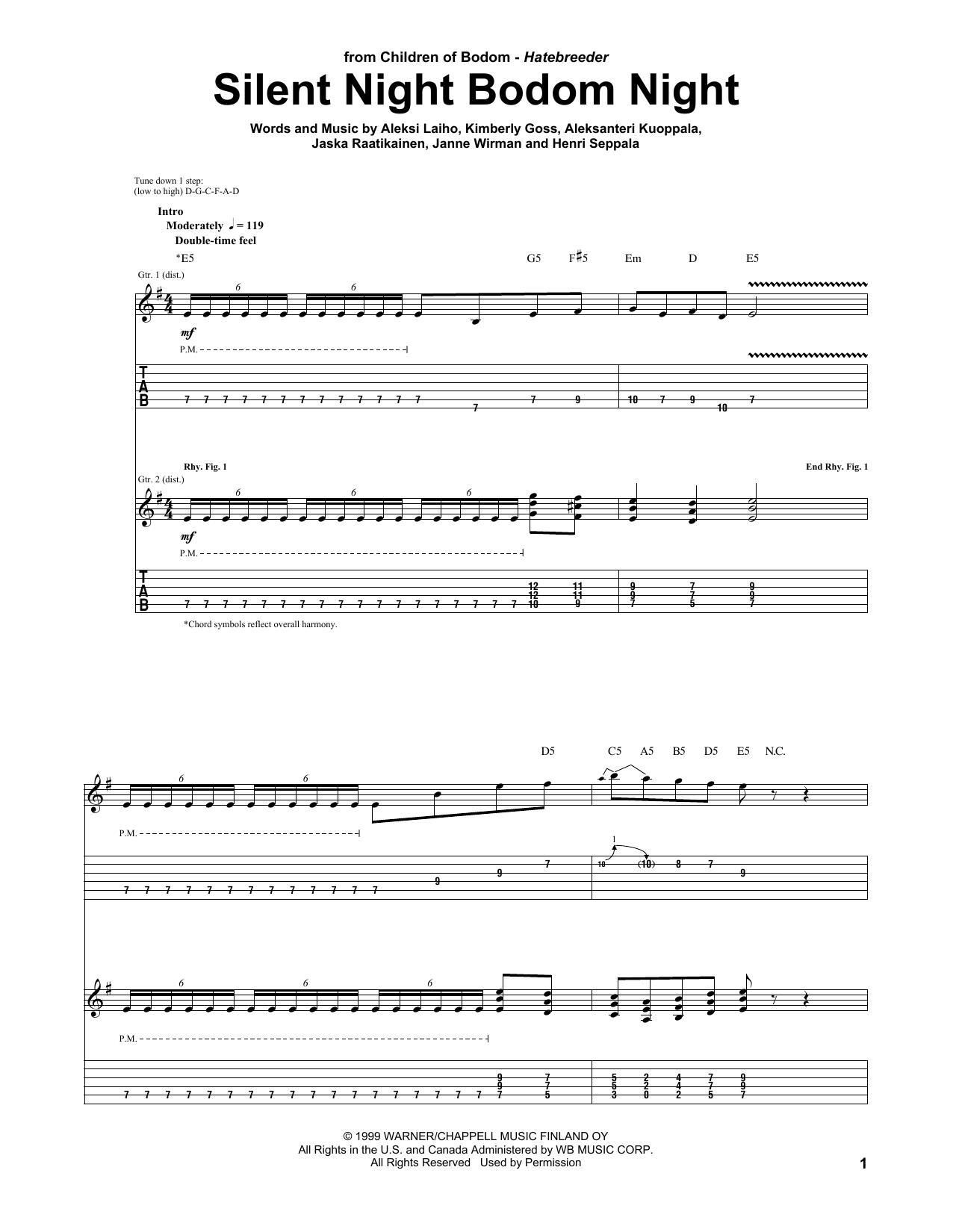 Silent Night Bodom Night Sheet Music Direct