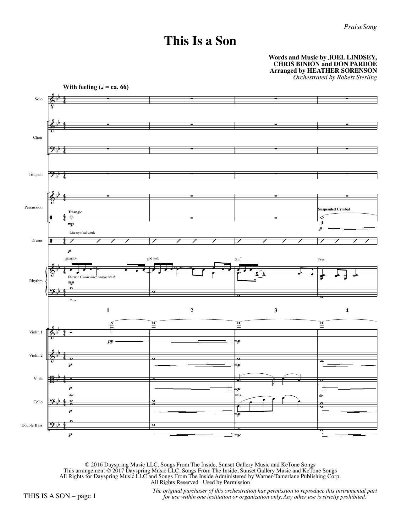 This Is a Son - Full Score Sheet Music