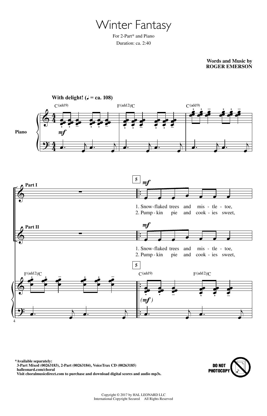 Winter Fantasy (2-Part Choir)