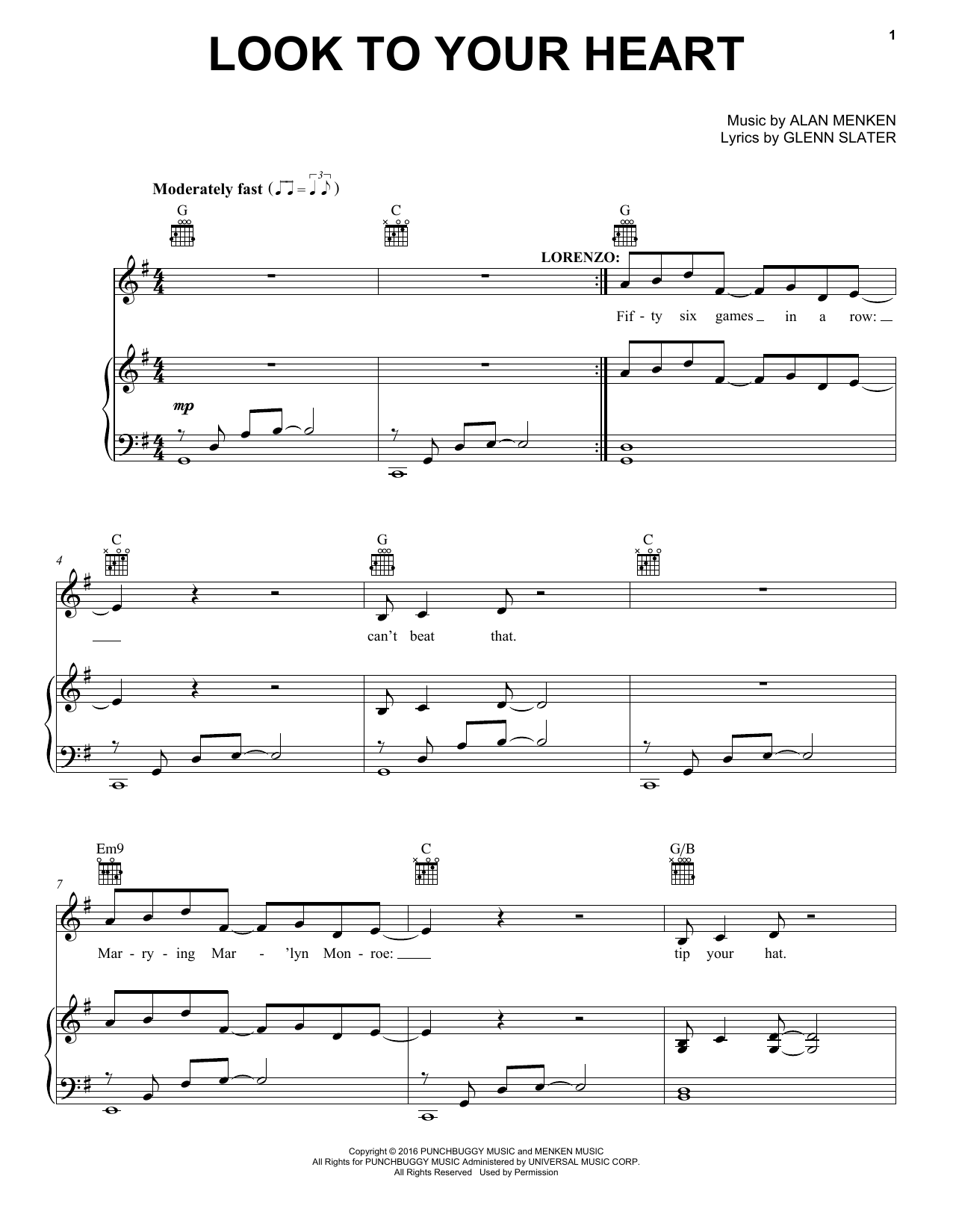 Look To Your Heart (Piano, Vocal & Guitar (Right-Hand Melody))