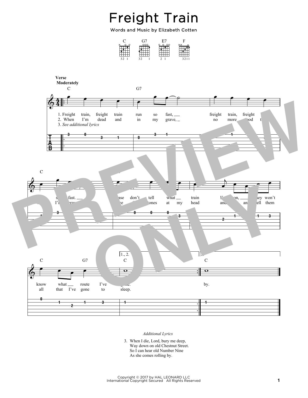 Freight Train Sheet Music
