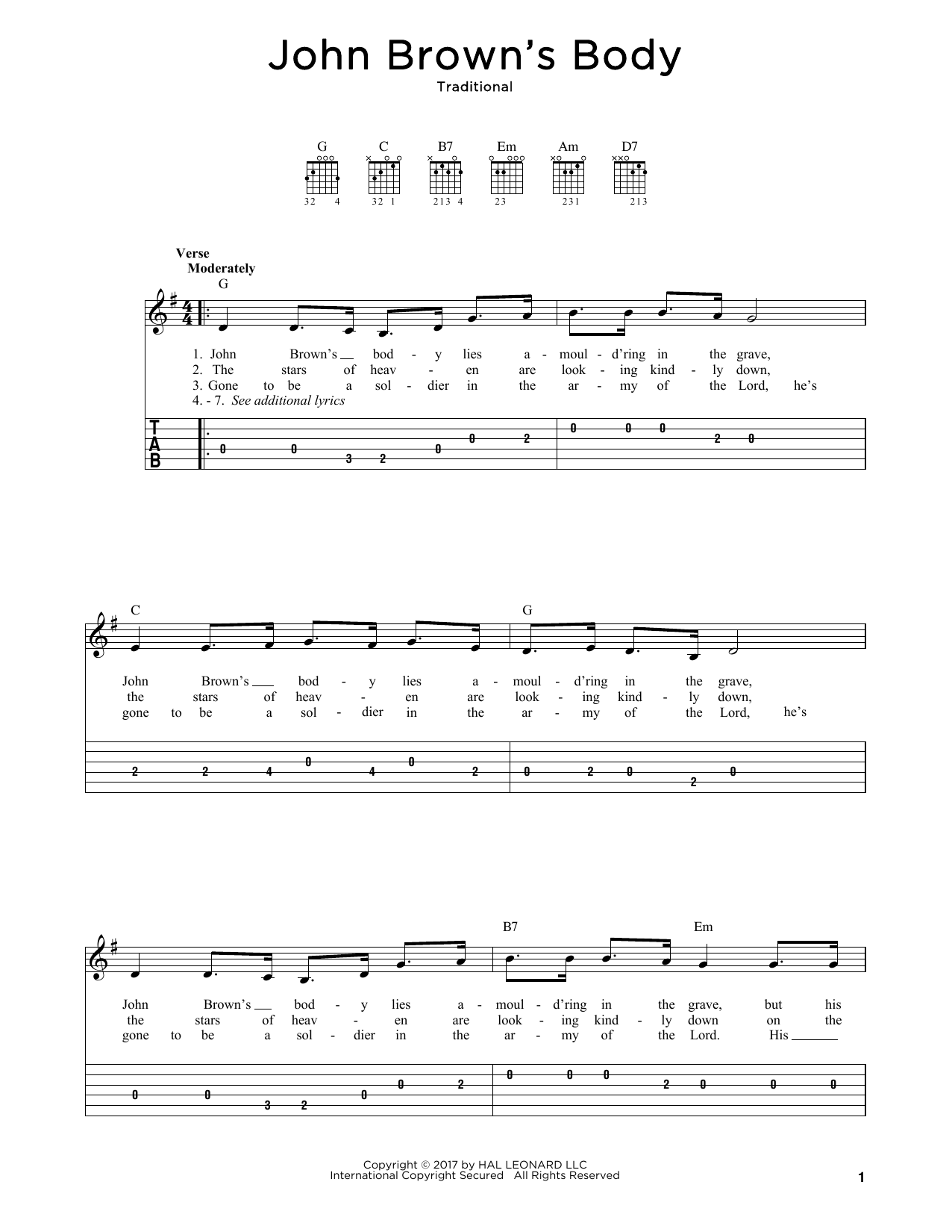 John Brown's Body Sheet Music