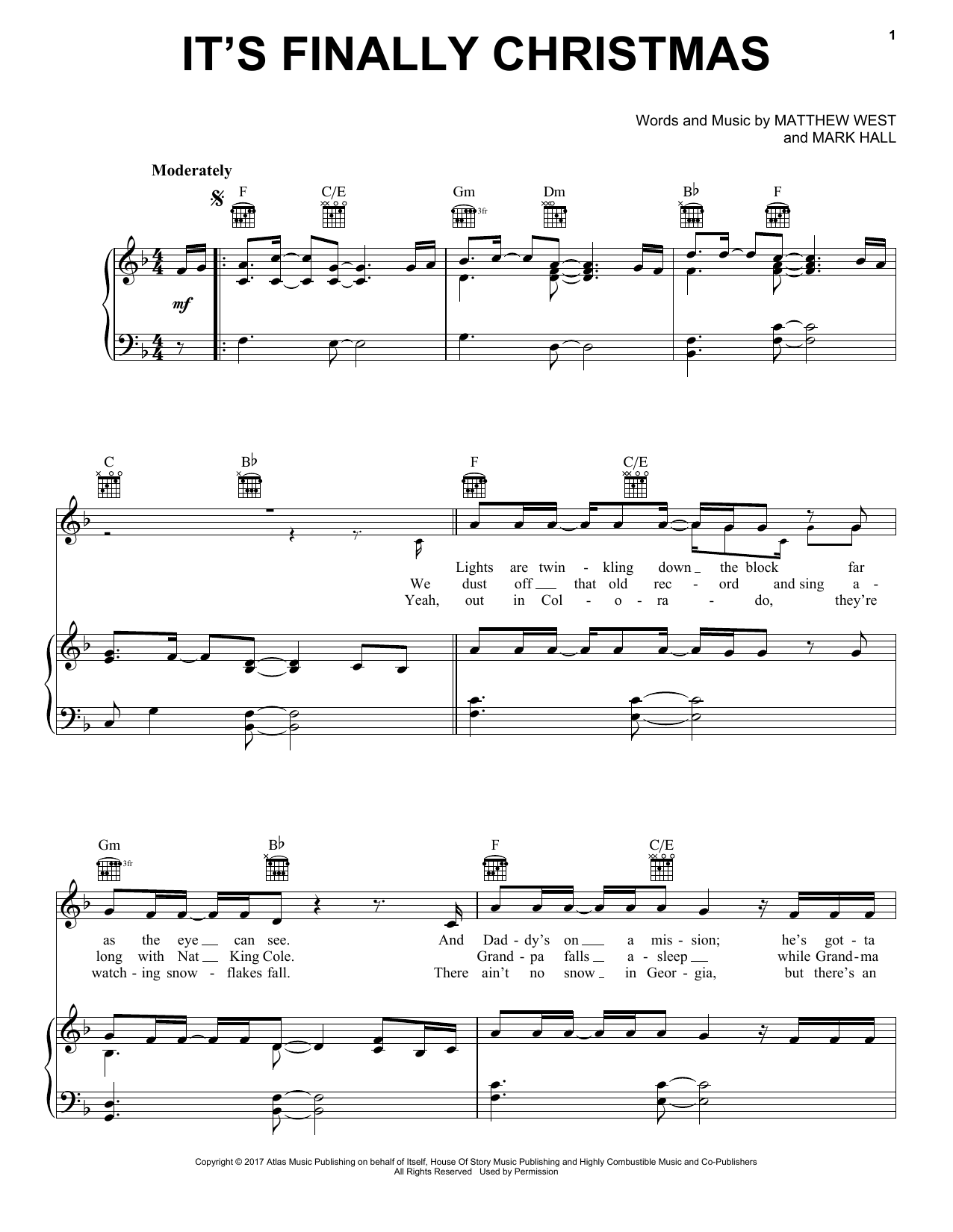 Its finally christmas sheet music direct sheet preview hexwebz Images
