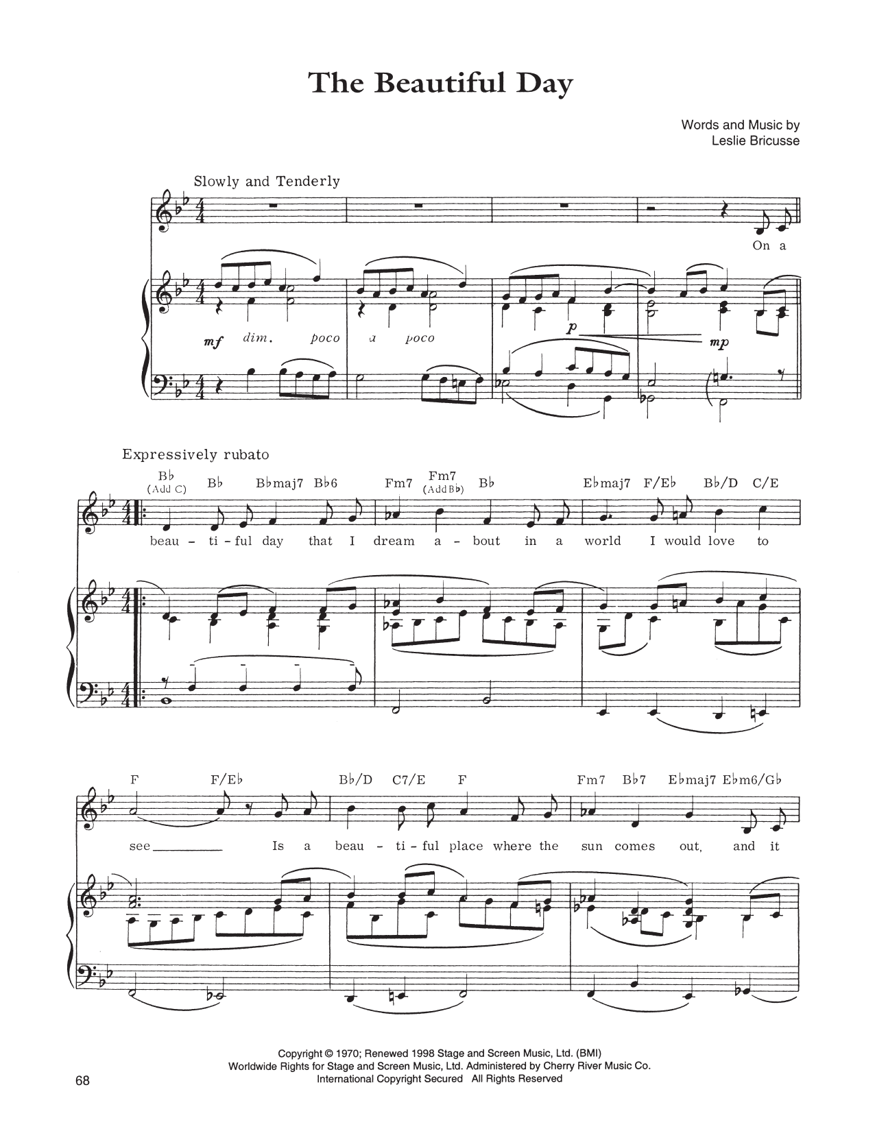 The Beautiful Day (Piano, Vocal & Guitar (Right-Hand Melody))