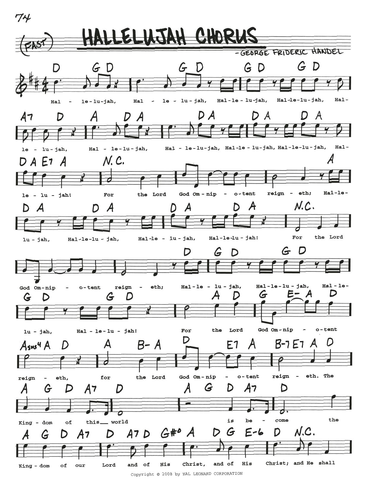 Hallelujah Chorus Sheet Music