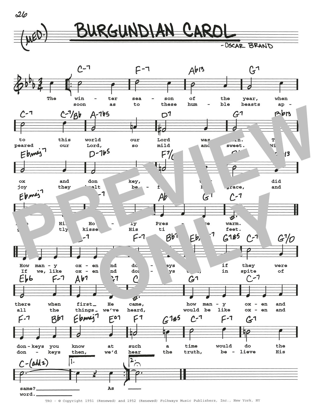 Burgundian Carol Sheet Music