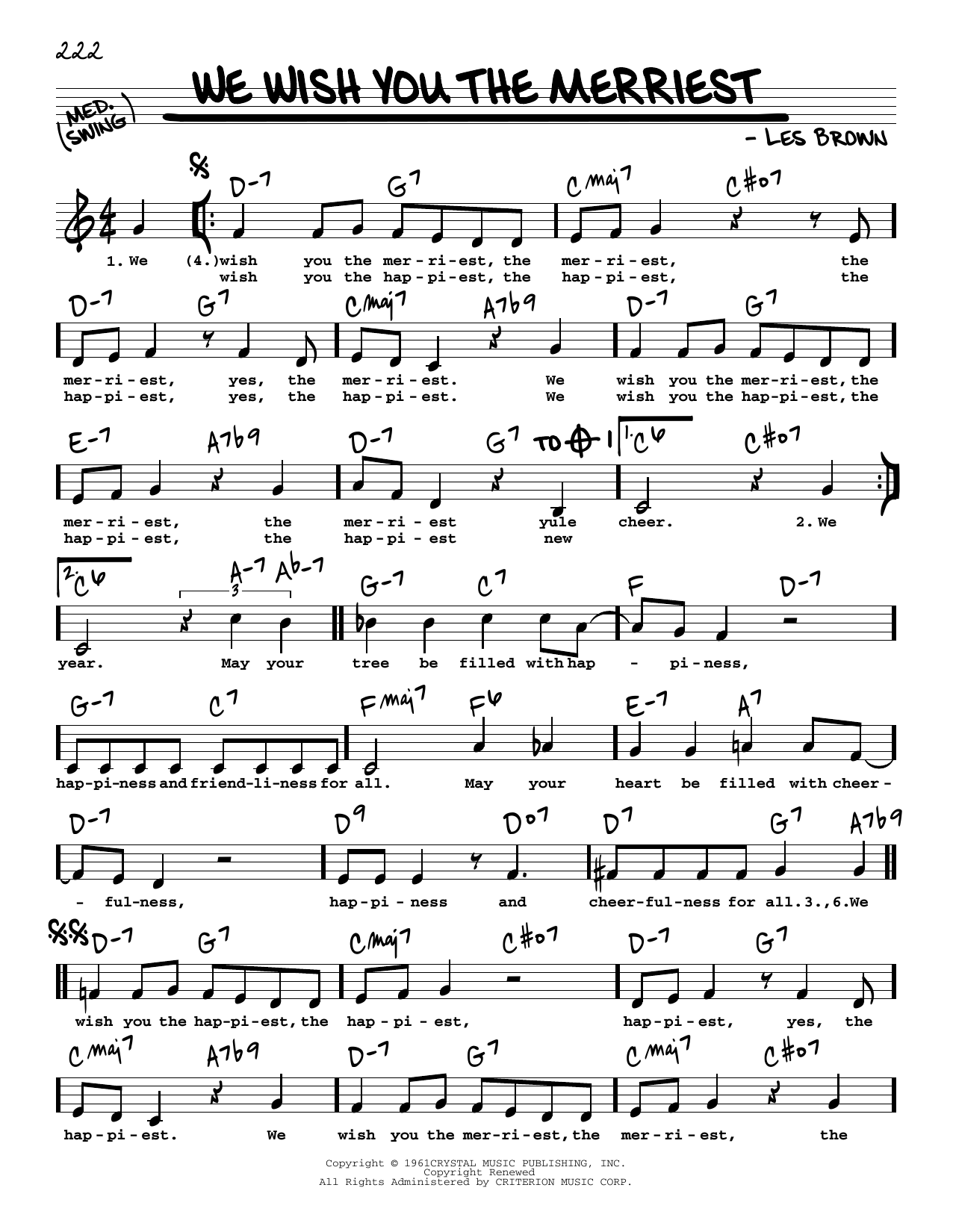 We Wish You The Merriest Sheet Music