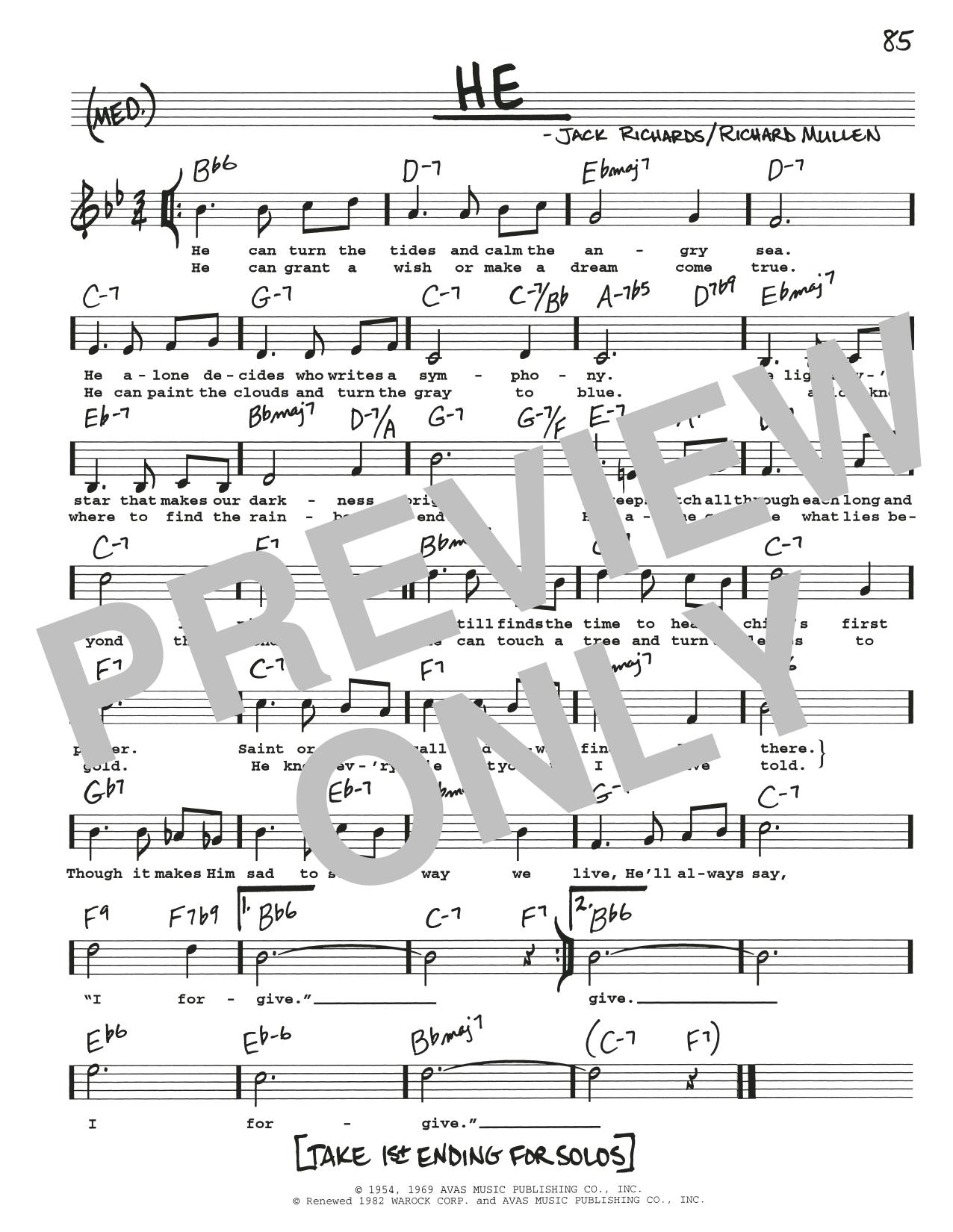 He Sheet Music
