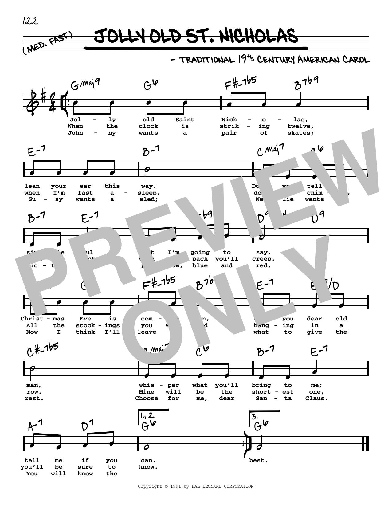 Jolly Old St. Nicholas Sheet Music