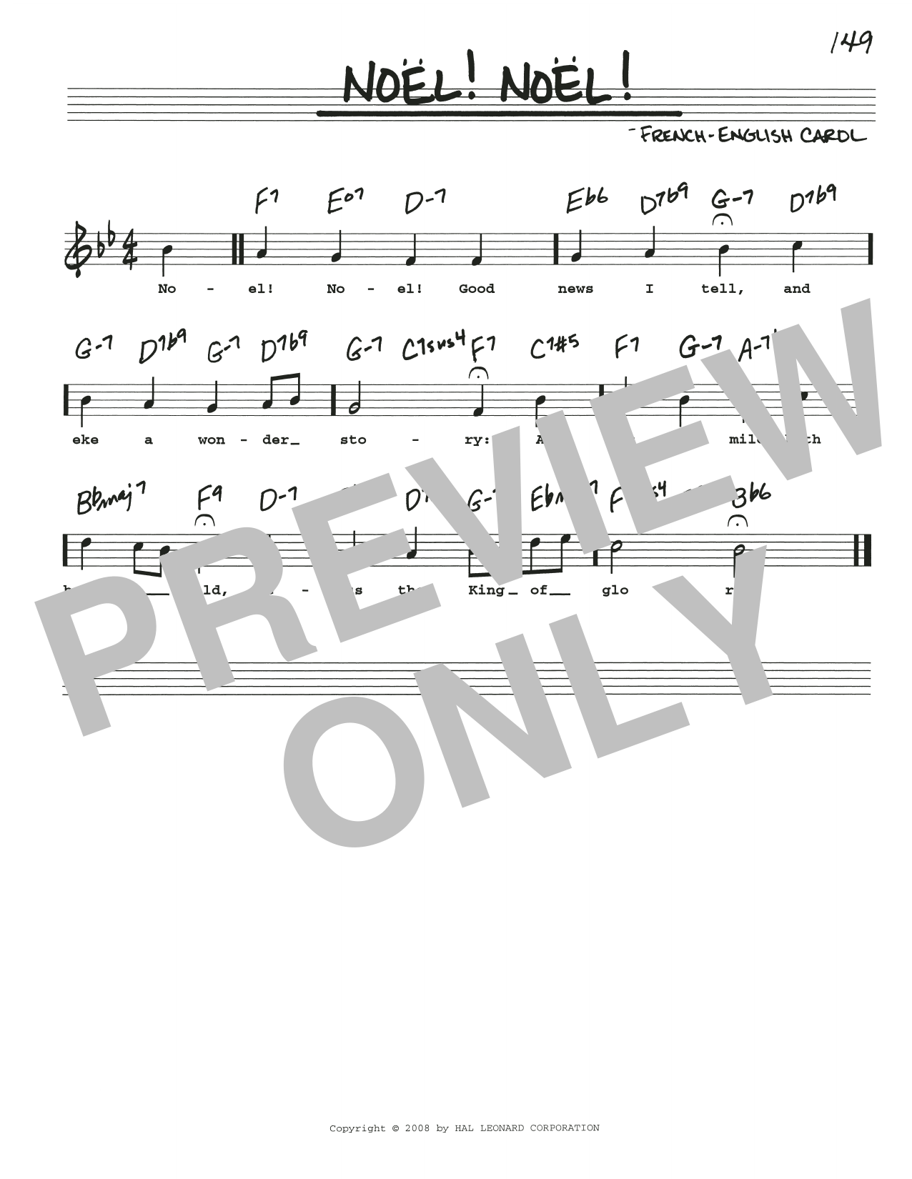Noel! Noel! (Real Book – Melody, Lyrics & Chords)