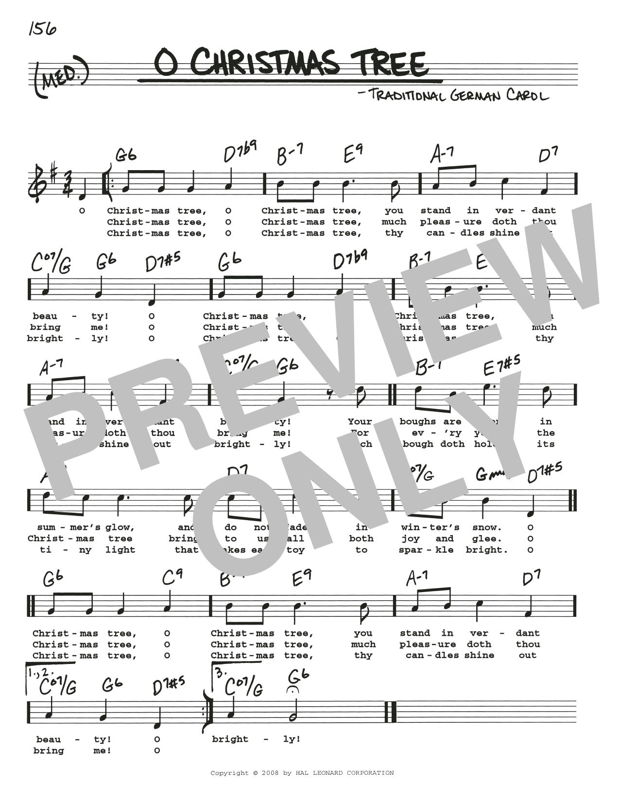 O Christmas Tree sheet music by Traditional German Carol (Real Book ...